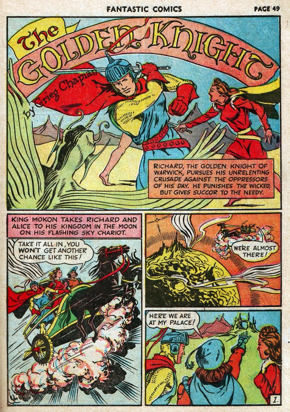 Read online Fantastic Comics comic -  Issue #17 - 50