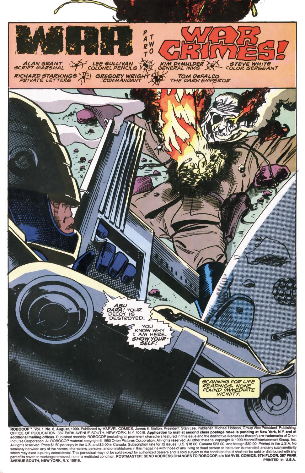 Read online Robocop (1990) comic -  Issue #6 - 2