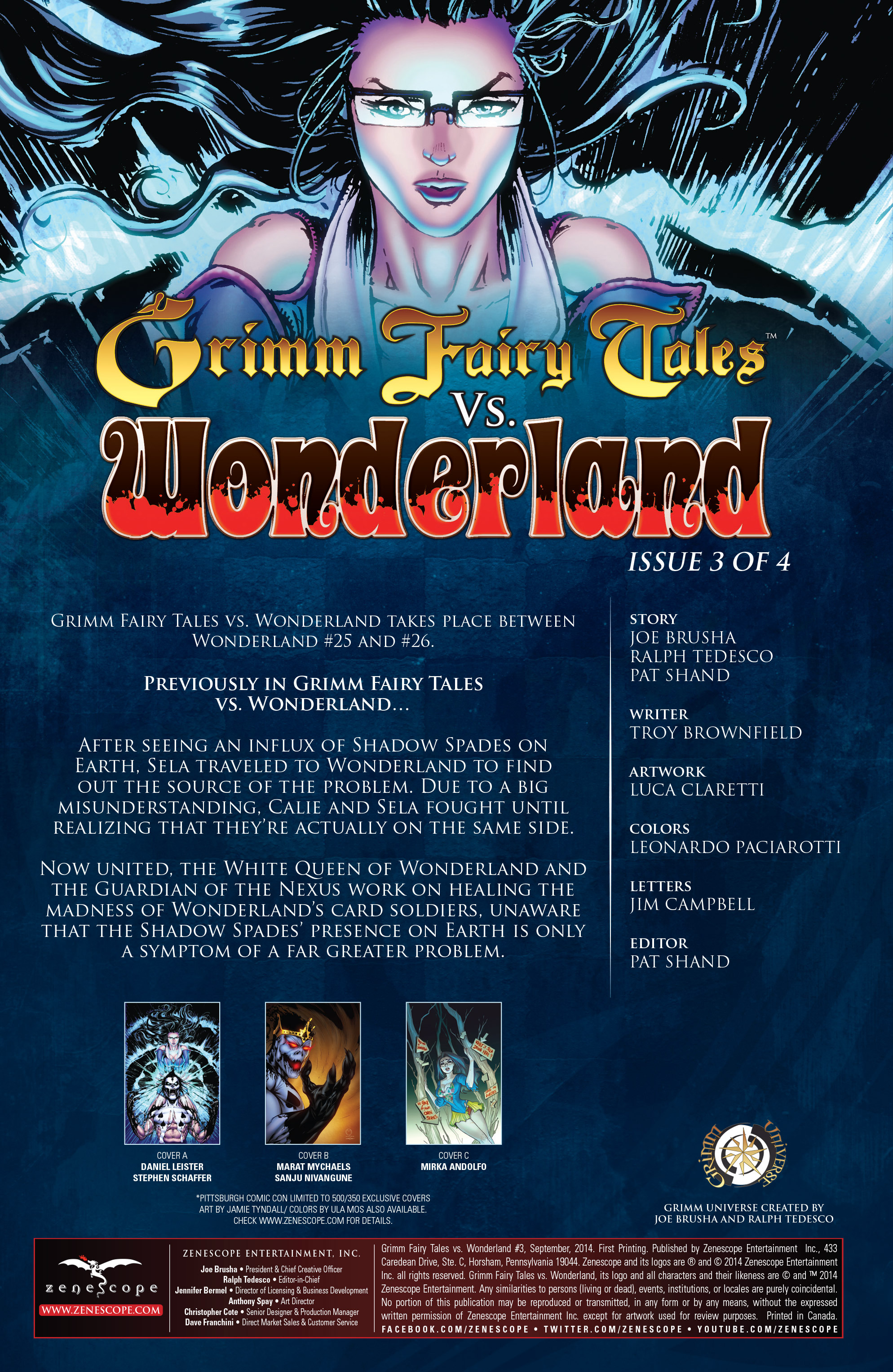 Read online Grimm Fairy Tales vs. Wonderland comic -  Issue #3 - 3