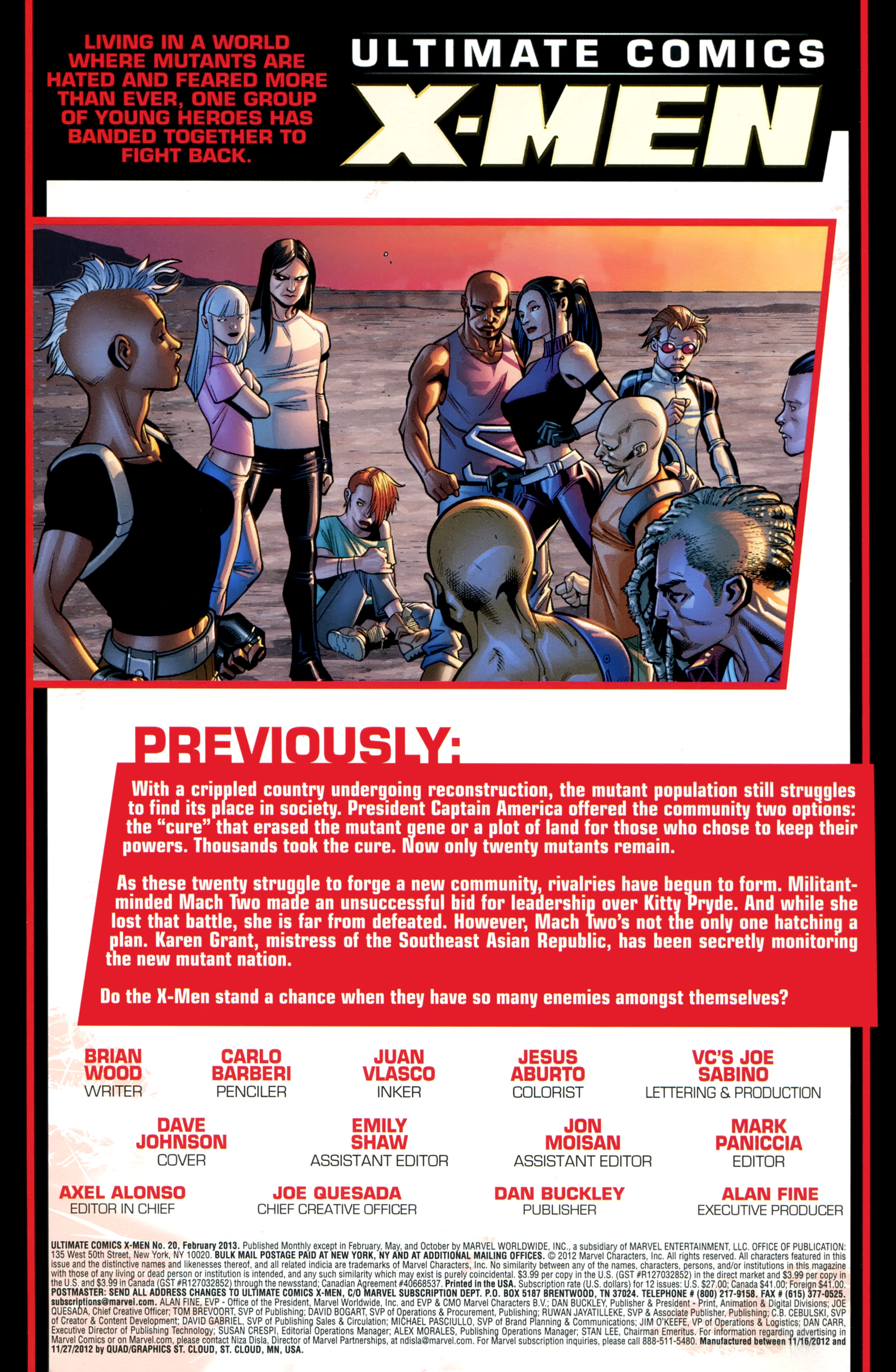 Read online Ultimate Comics X-Men comic -  Issue #20 - 2
