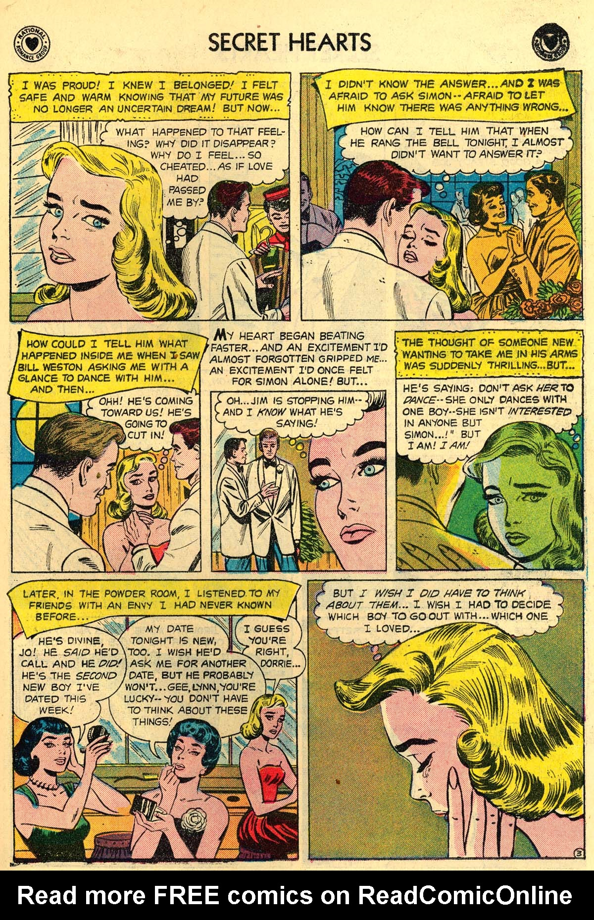 Read online Secret Hearts comic -  Issue #43 - 19