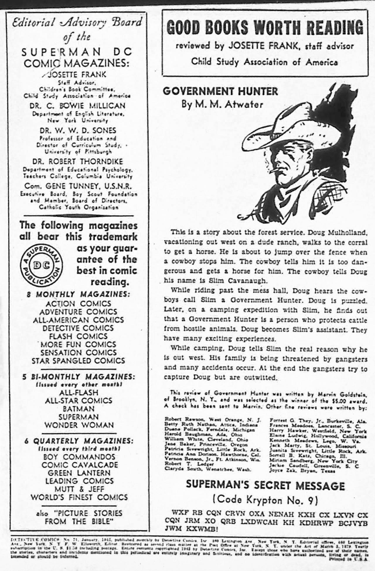 Read online Detective Comics (1937) comic -  Issue #71 - 2