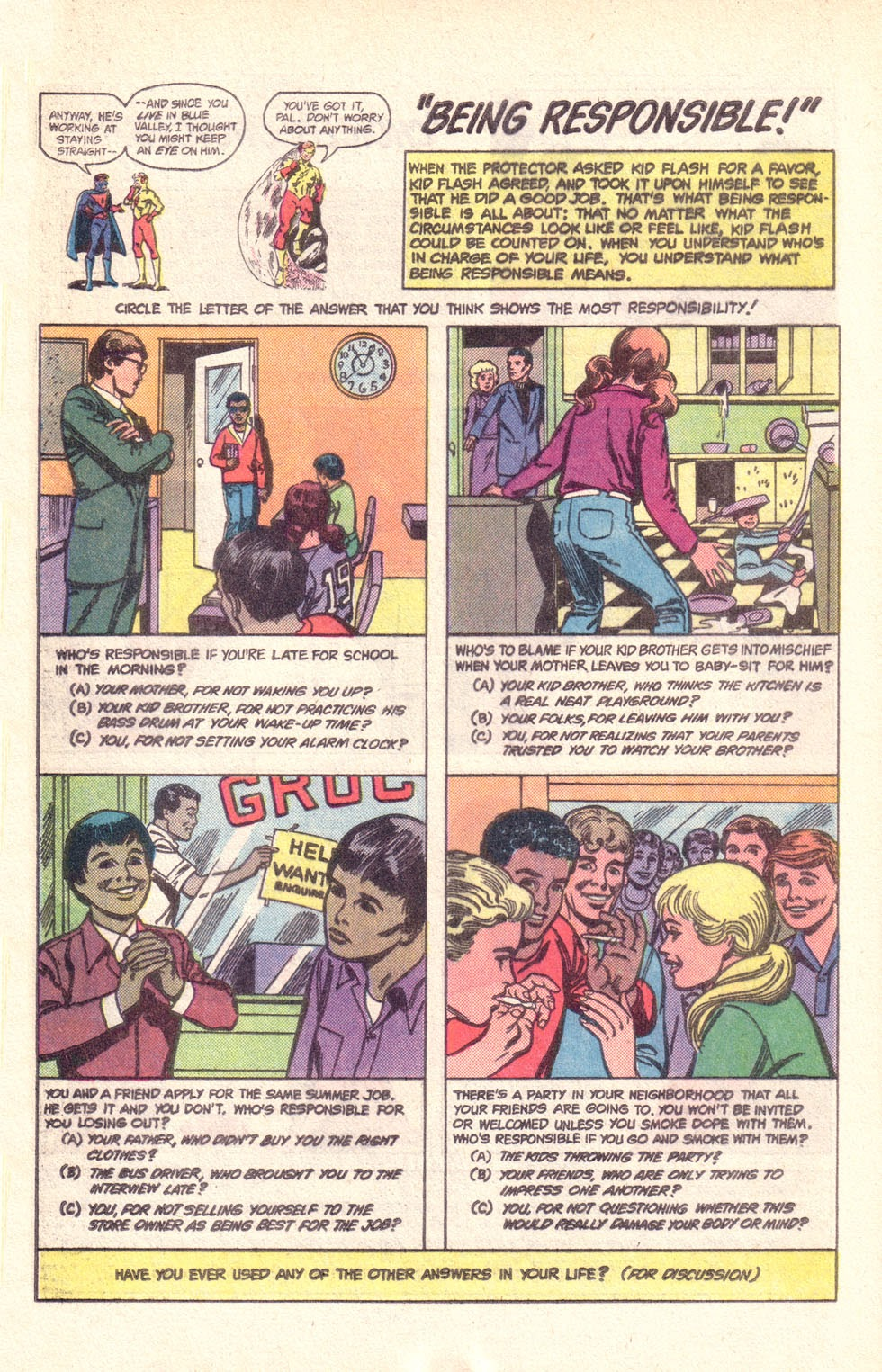 Read online The New Teen Titans (Drug Awareness Specials) comic -  Issue #1 - 32