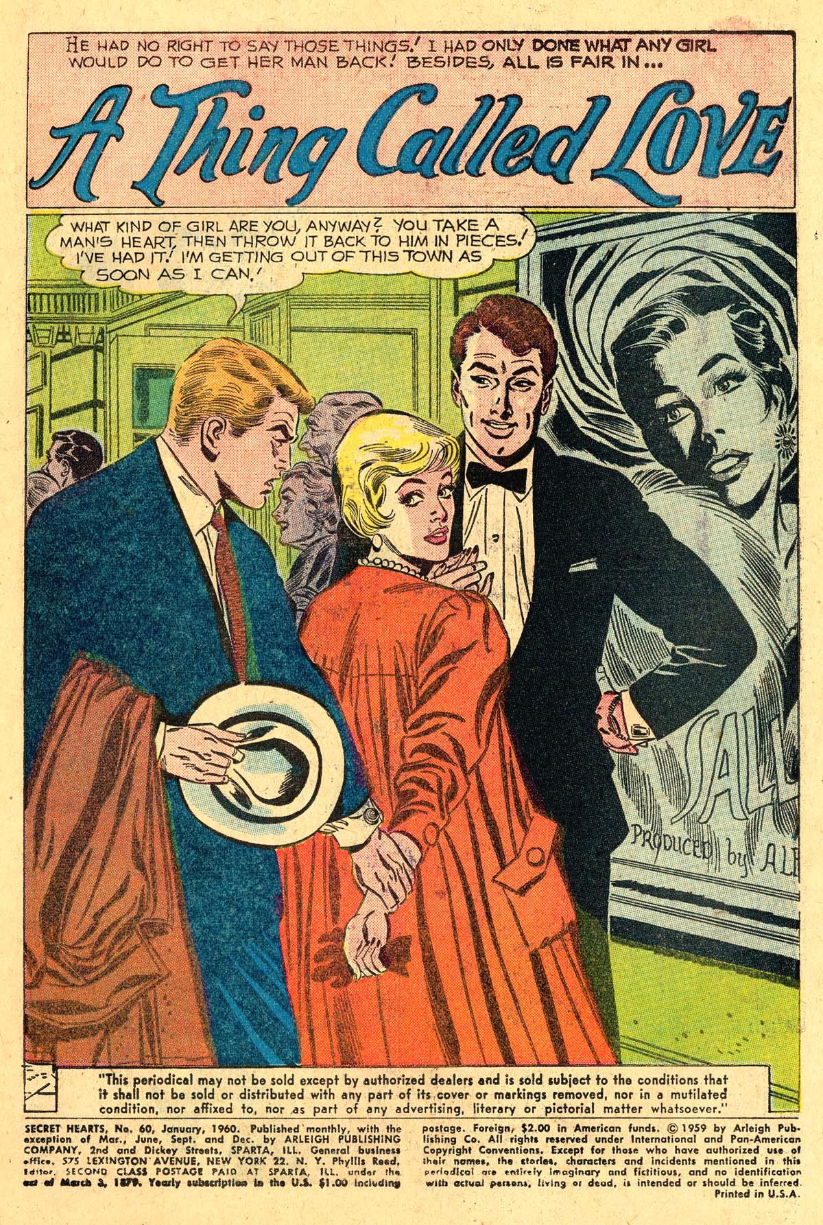 Read online Secret Hearts comic -  Issue #60 - 3