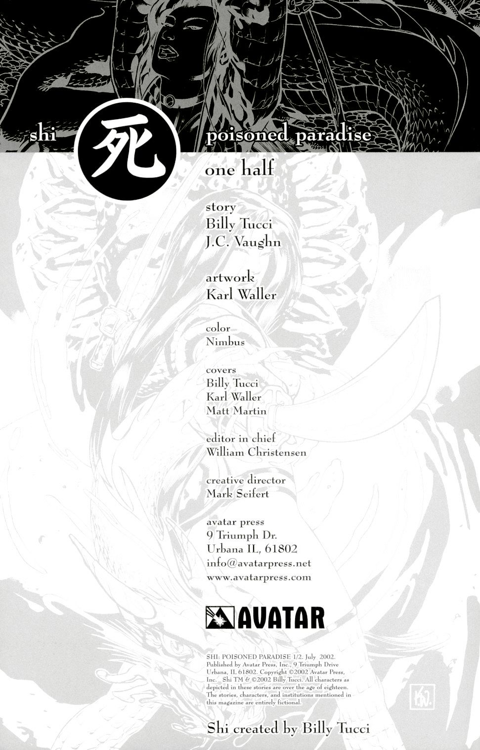 Read online Shi: Poisoned Paradise comic -  Issue #0.5 - 2