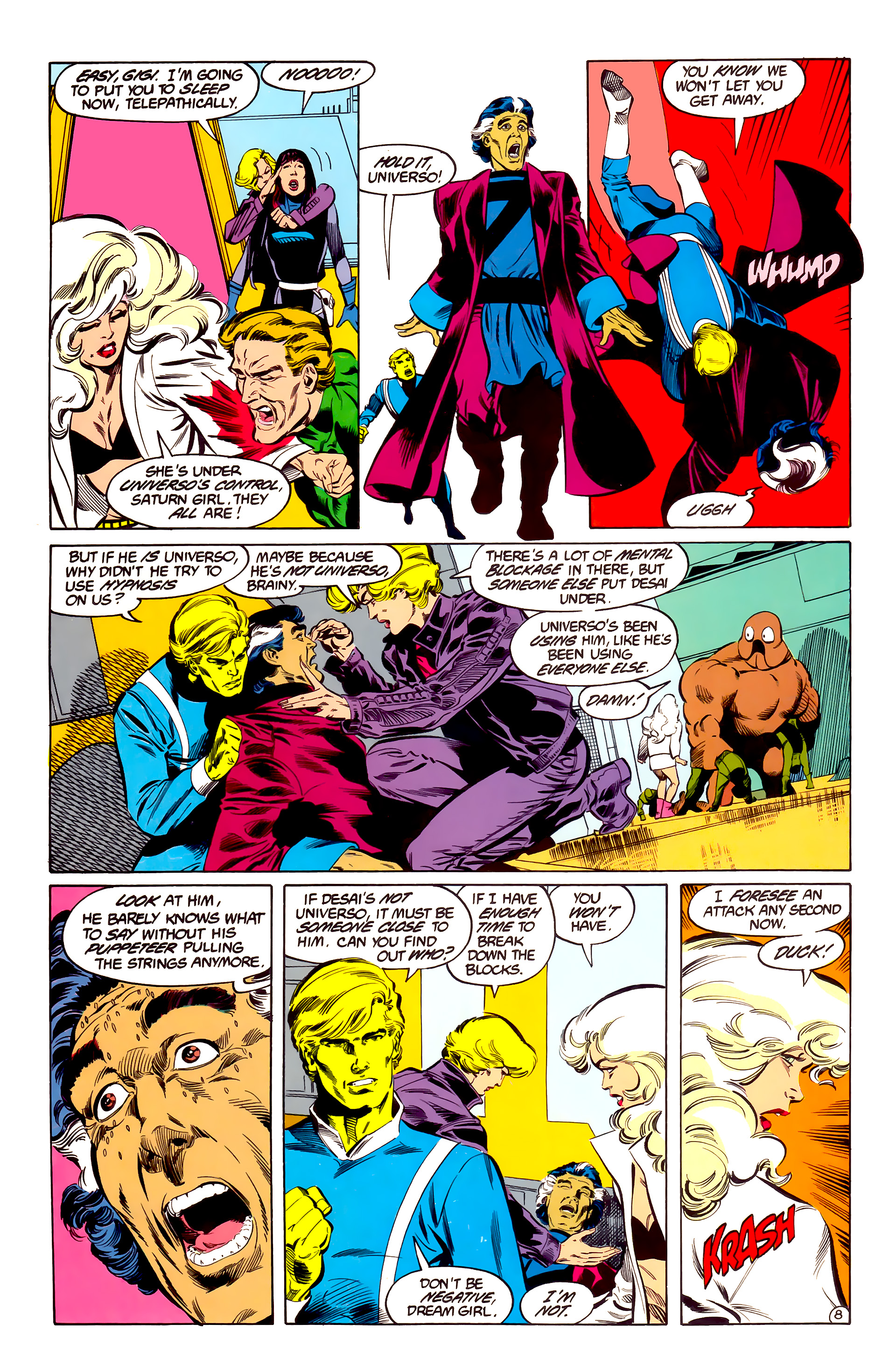 Legion of Super-Heroes (1984) 35 Page 8