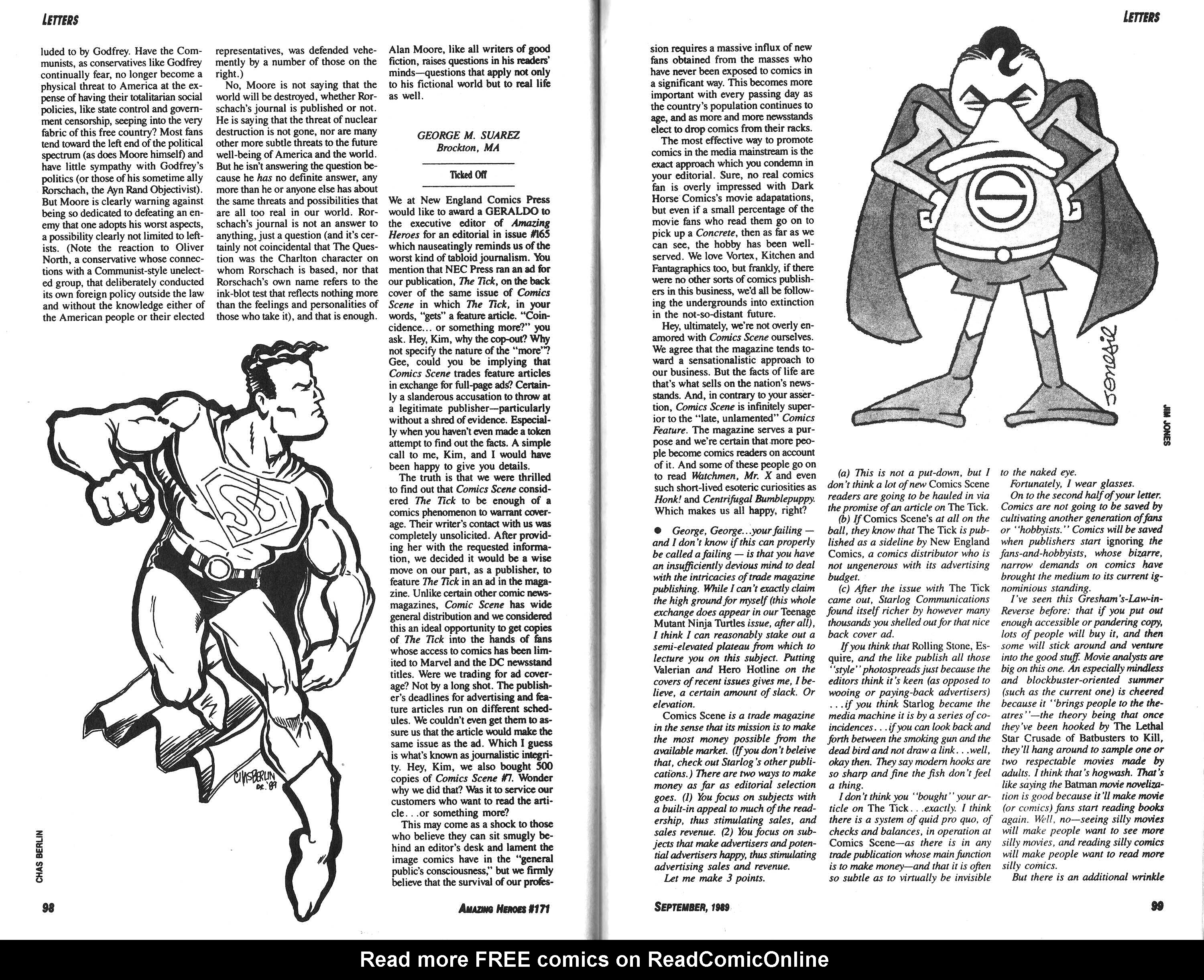 Read online Amazing Heroes comic -  Issue #171 - 50