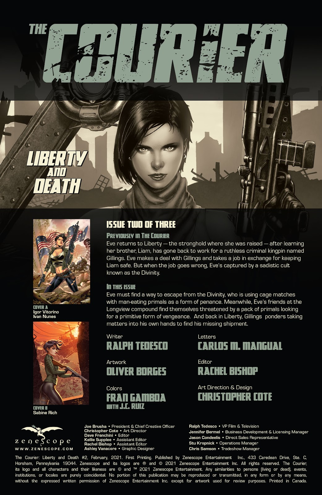 The Courier: Liberty & Death issue 2 - Page 2