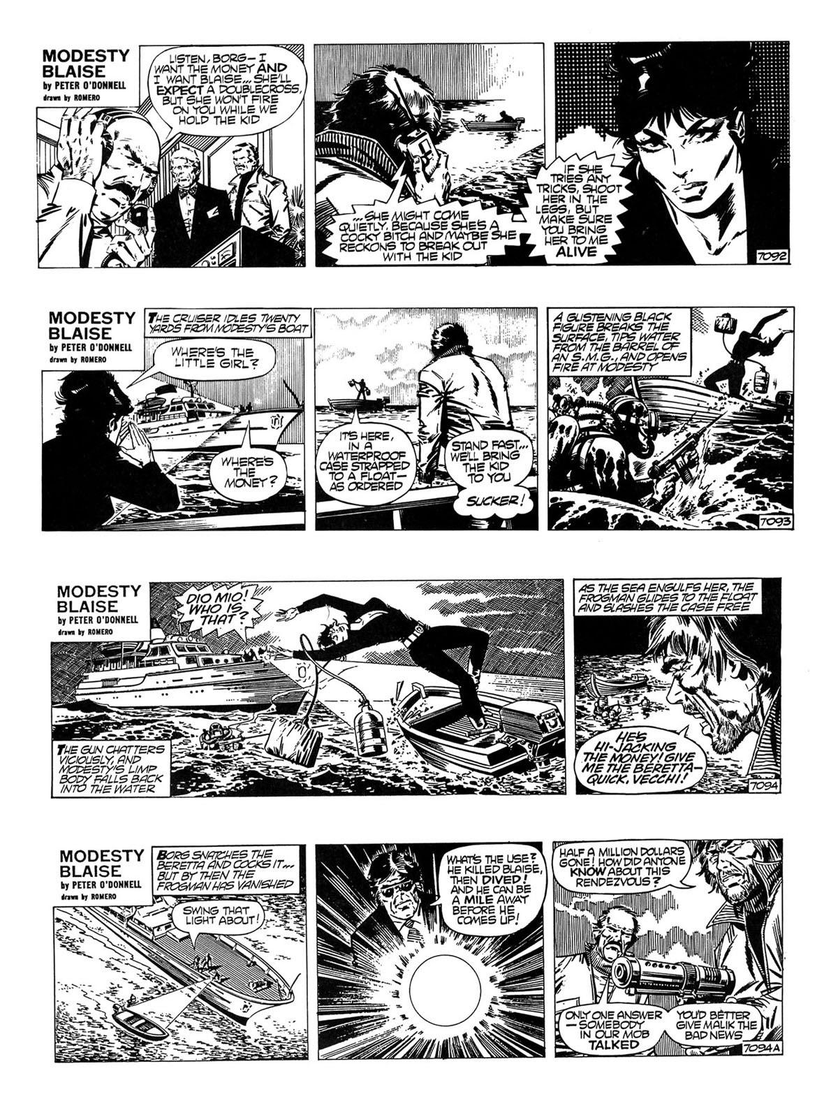 Read online Modesty Blaise Live bait comic -  Issue # TPB - 19