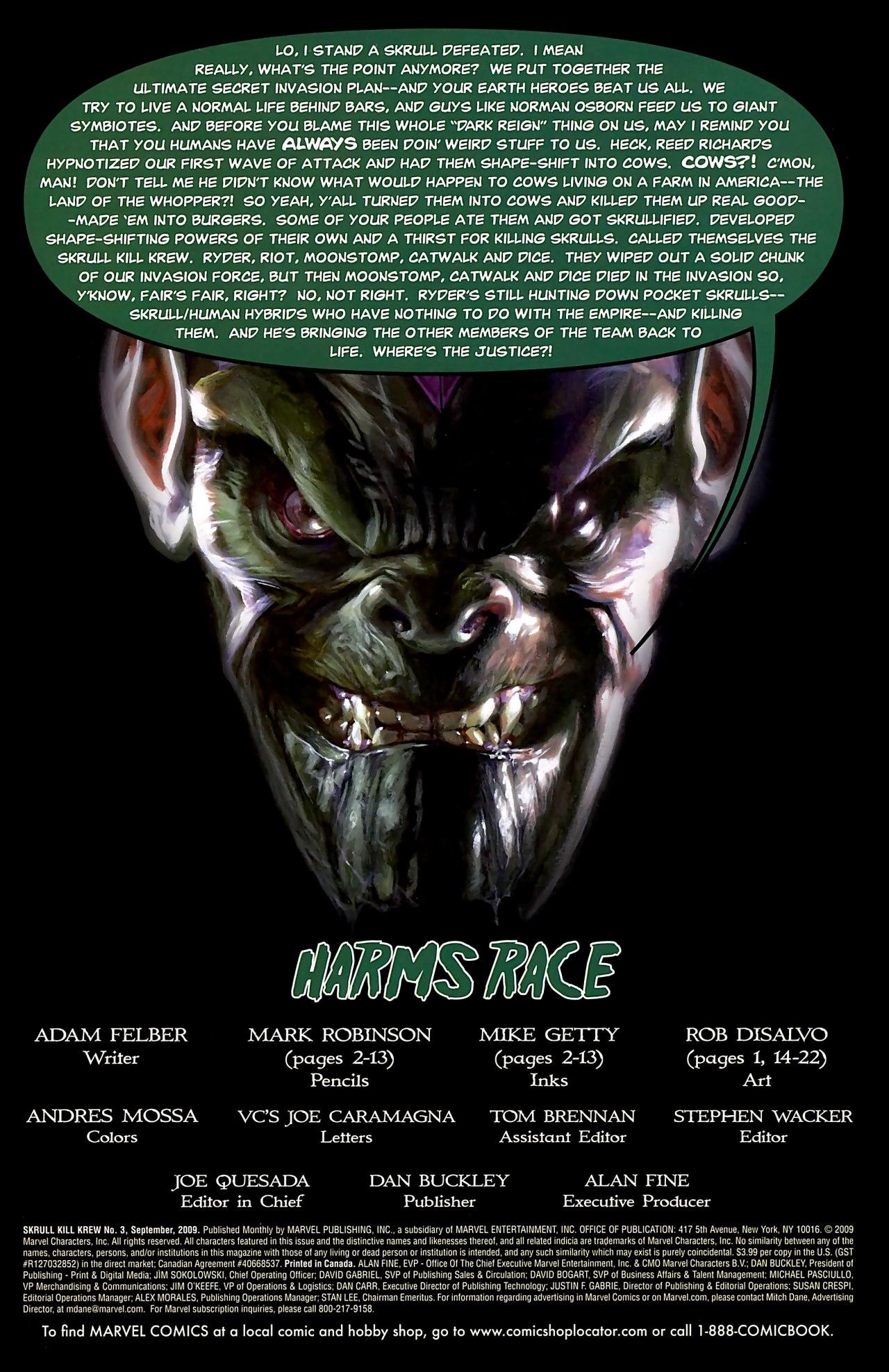 Read online Skrull Kill Krew (2009) comic -  Issue #3 - 3