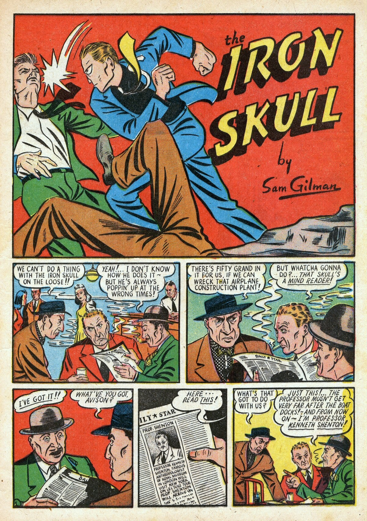 Read online Amazing Man Comics comic -  Issue #16 - 15