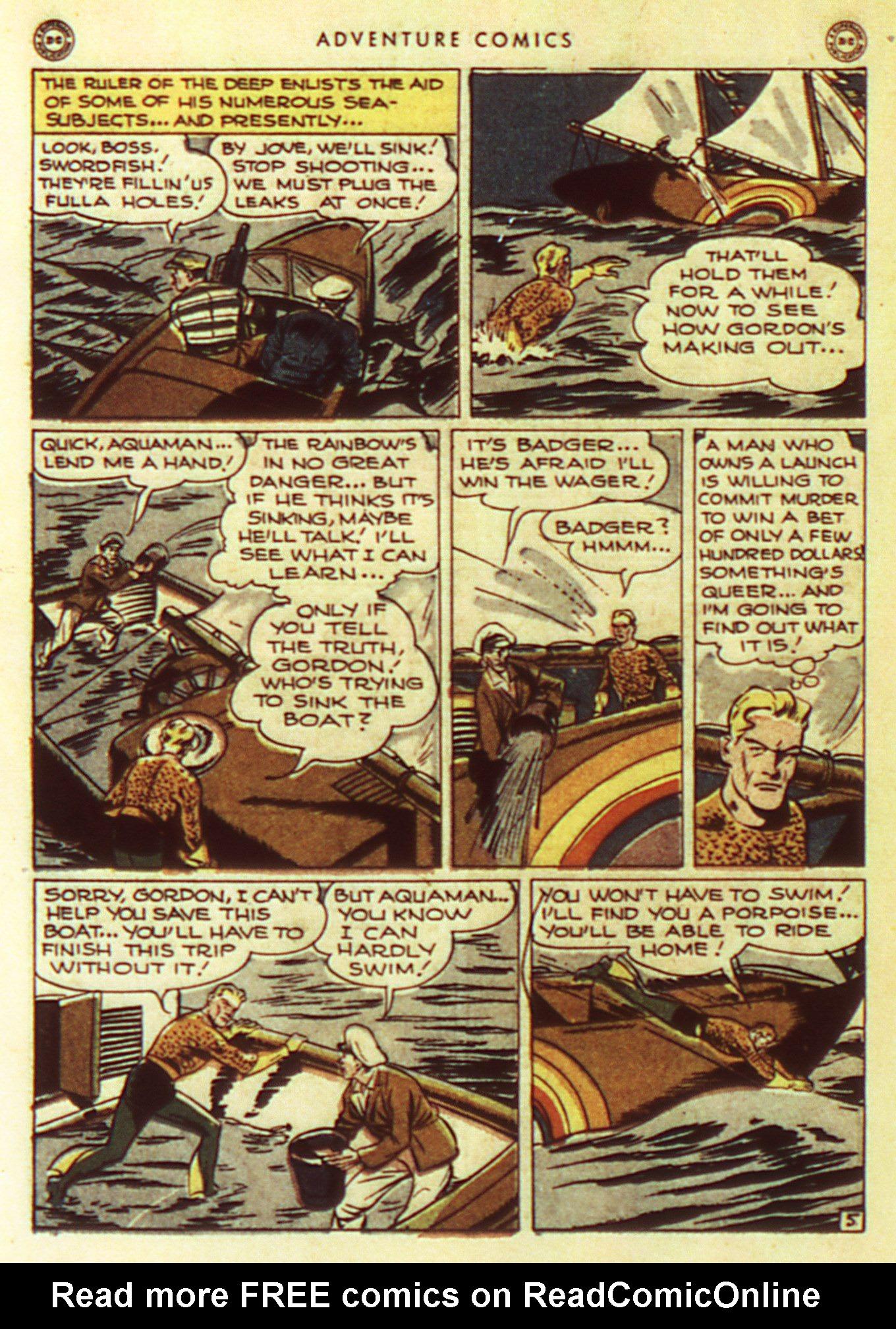Read online Adventure Comics (1938) comic -  Issue #105 - 36