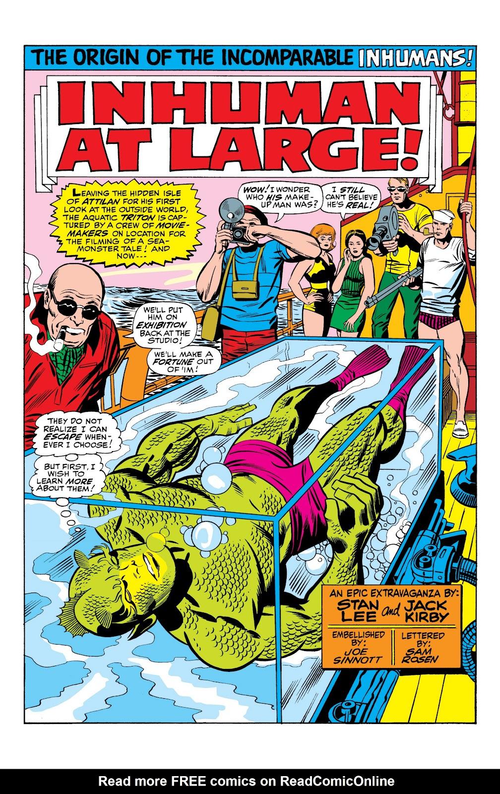 Read online Marvel Masterworks: The Inhumans comic -  Issue # TPB 1 (Part 1) - 33