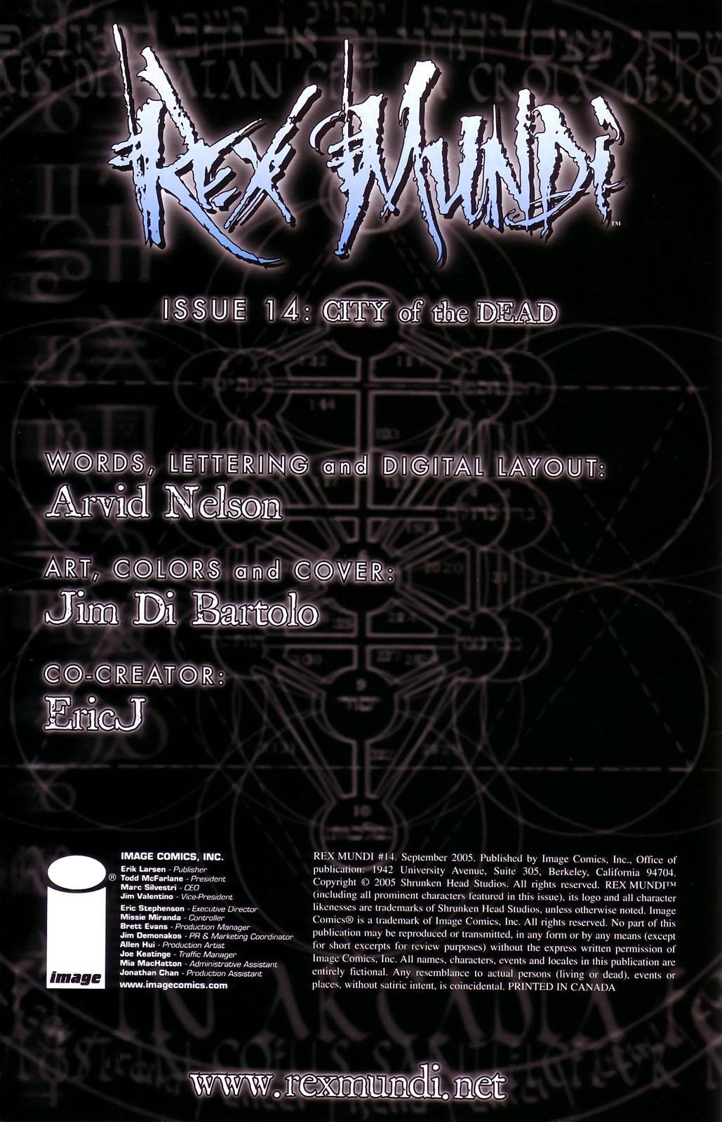 Read online Rex Mundi comic -  Issue #14 - 2