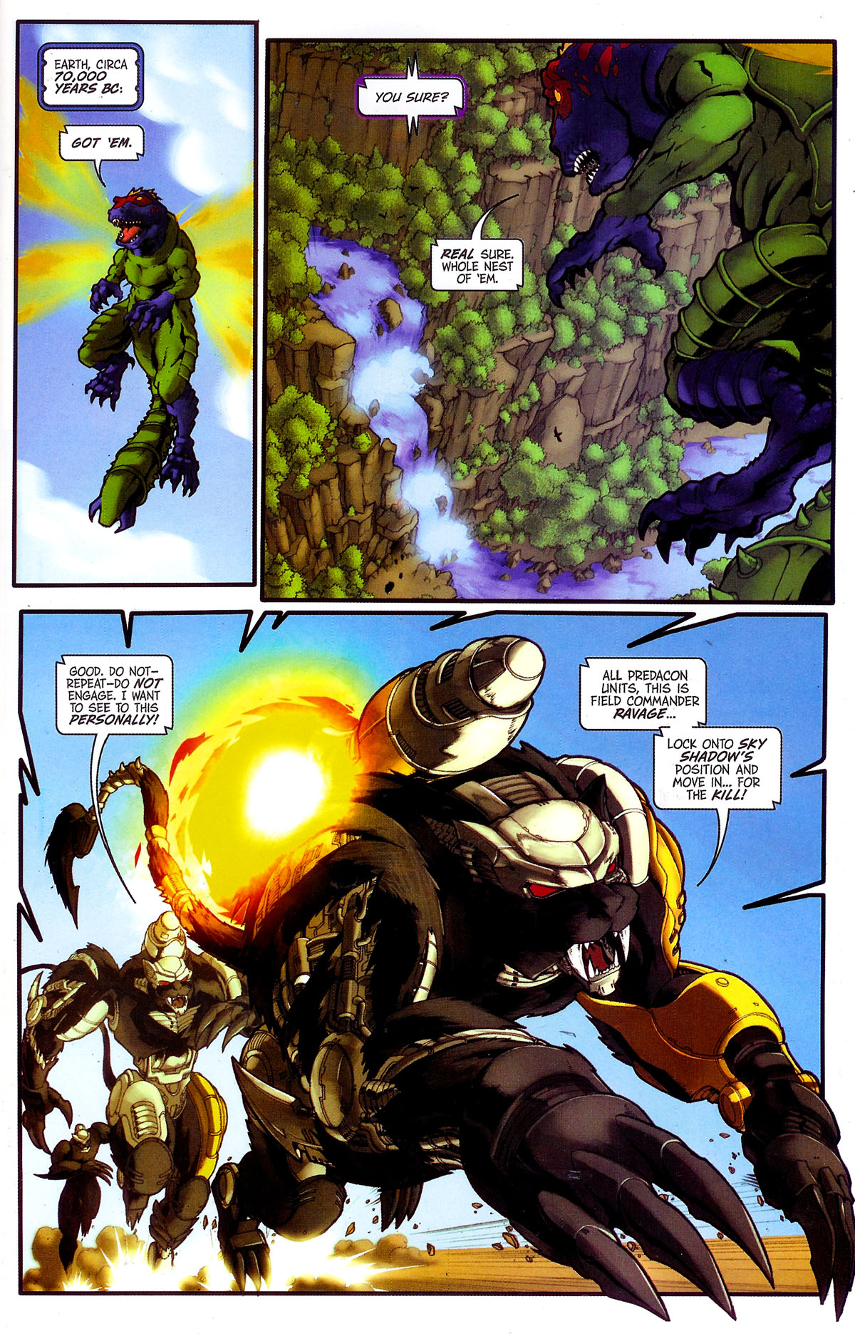 Read online Transformers, Beast Wars: The Gathering comic -  Issue #4 - 6