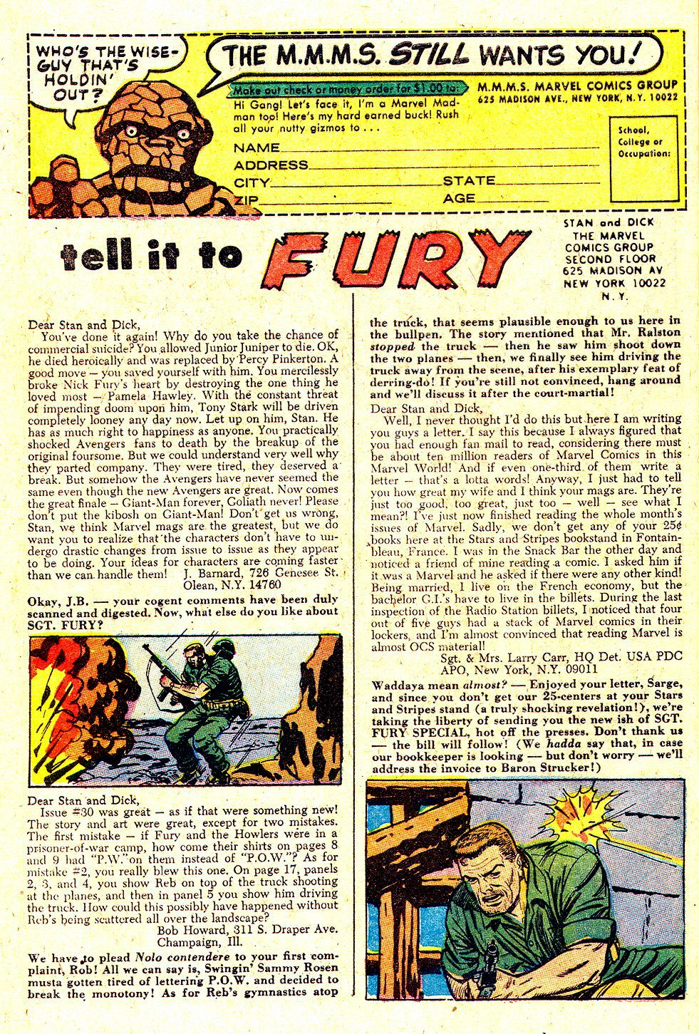 Read online Sgt. Fury comic -  Issue #34 - 32