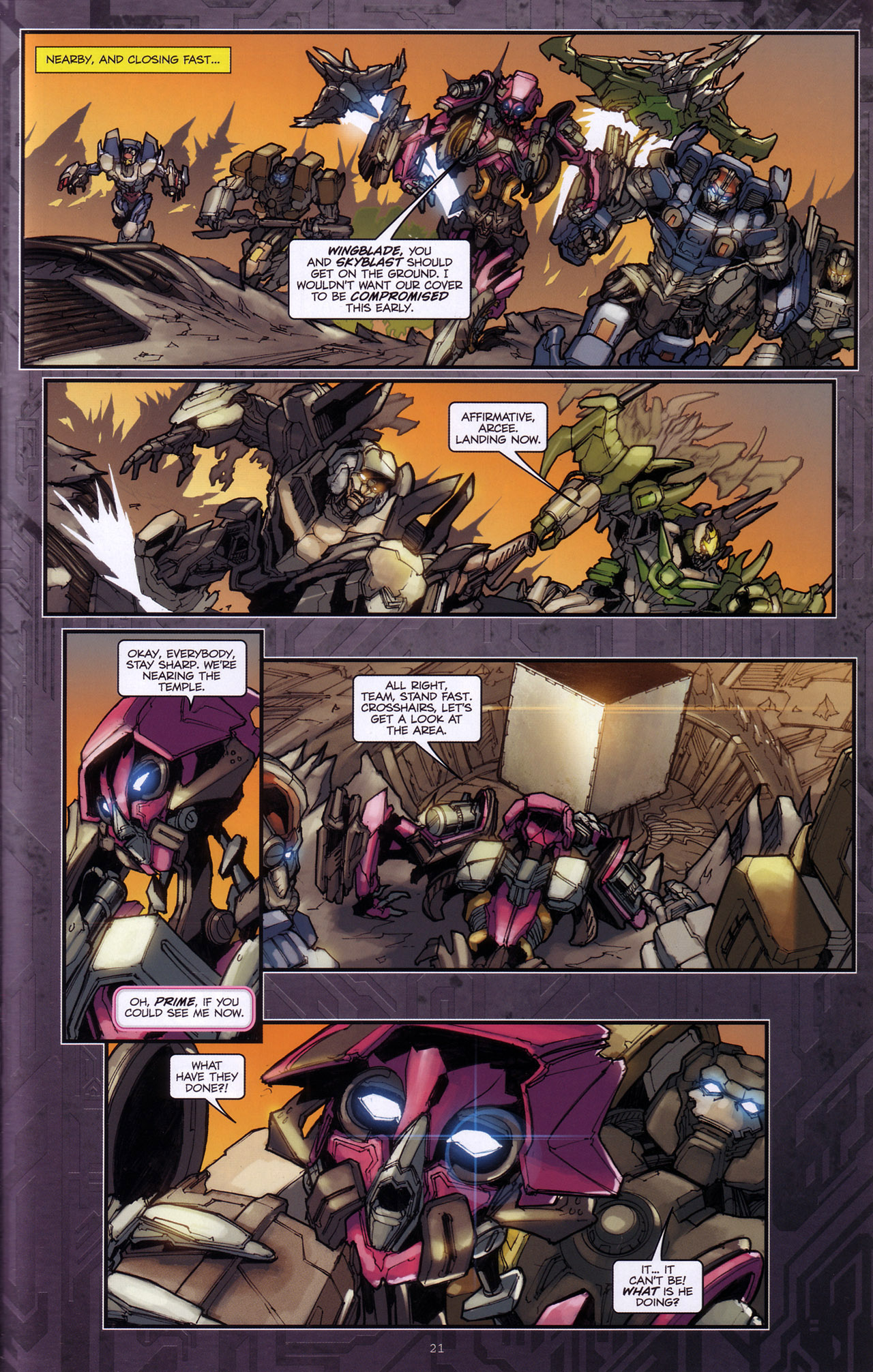 Read online Transformers: The Reign of Starscream comic -  Issue #4 - 23