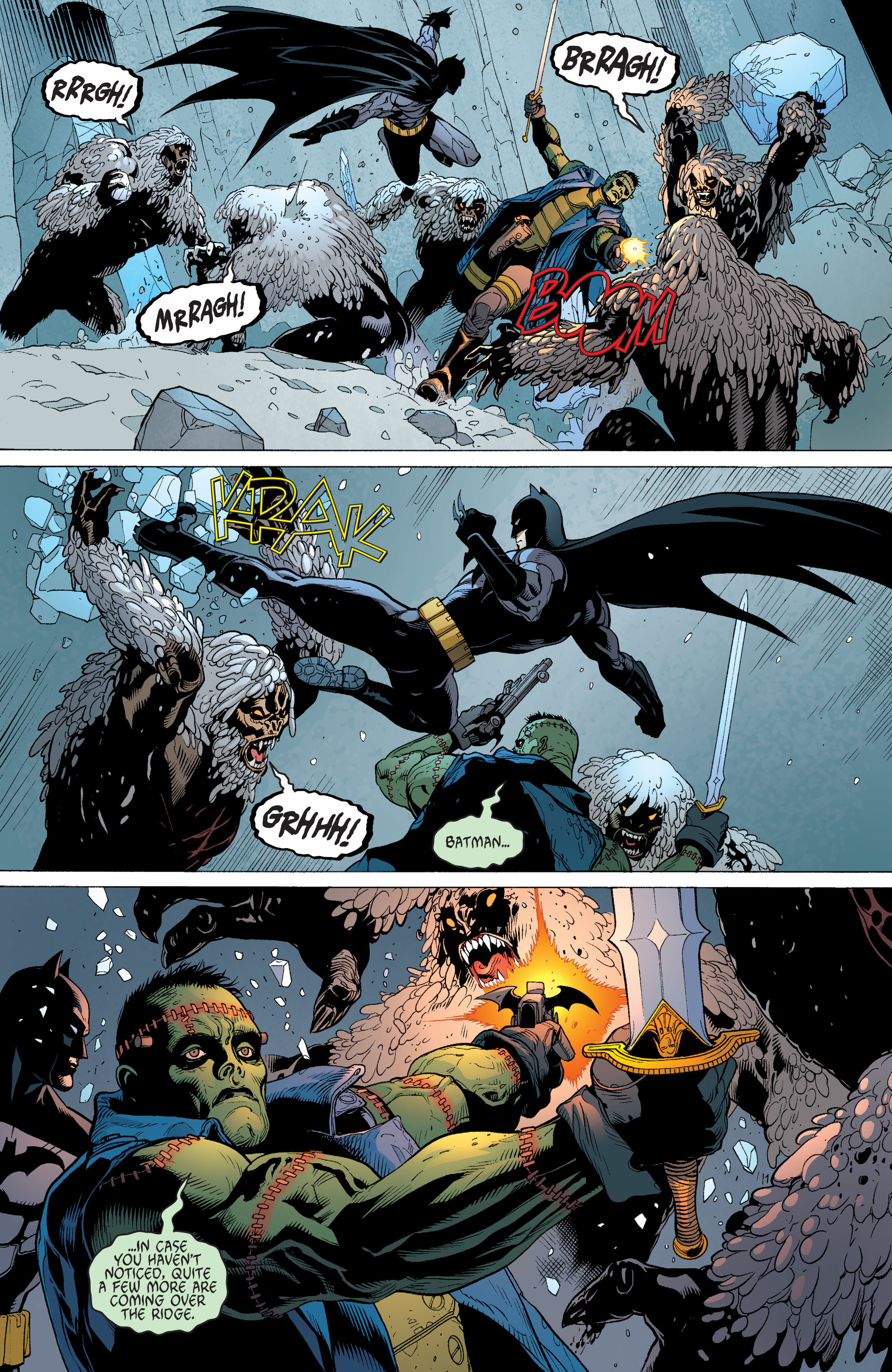 Read online Batman and Robin (2011) comic -  Issue #31 - Batman and Frankenstein - 16