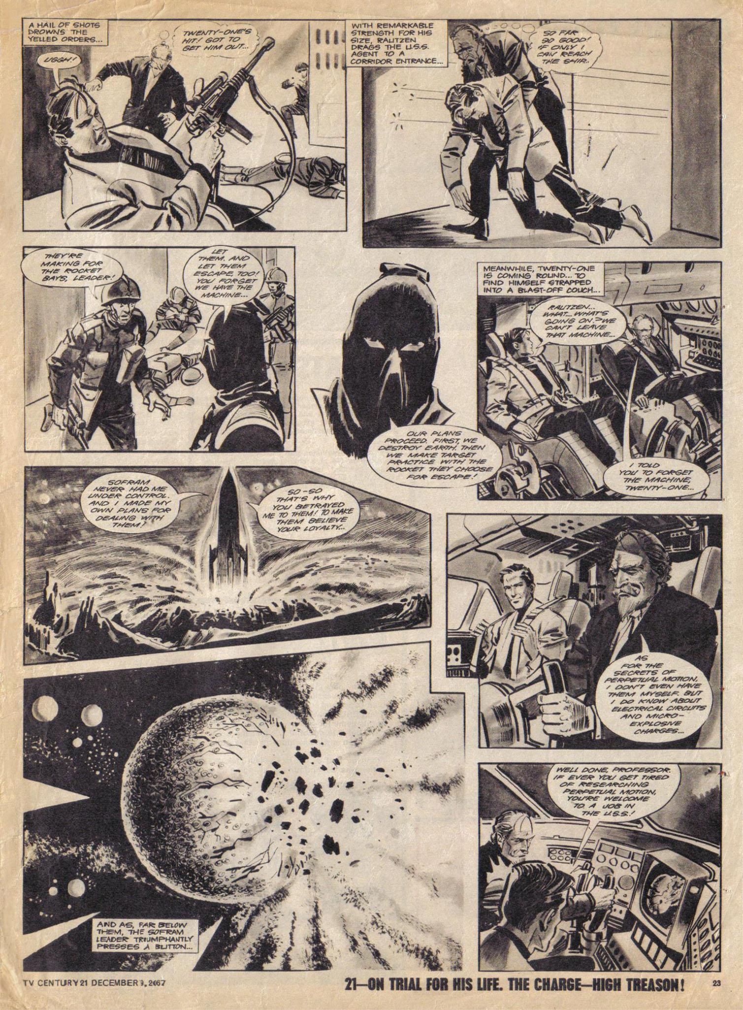 Read online TV Century 21 (TV 21) comic -  Issue #151 - 23