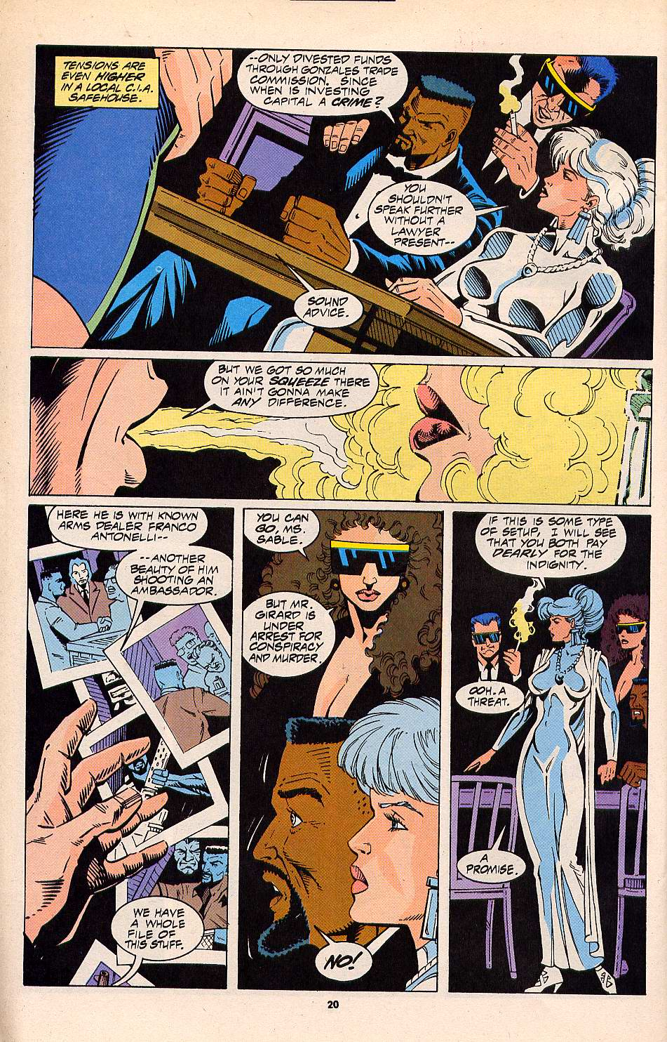 Read online Silver Sable and the Wild Pack comic -  Issue #20 - 17