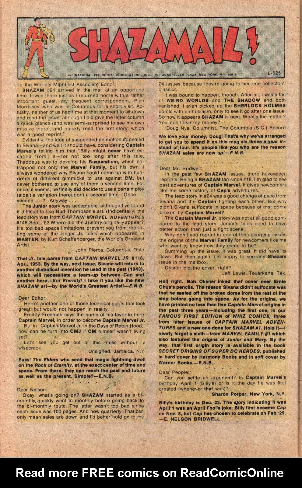 Read online Shazam! (1973) comic -  Issue #26 - 32