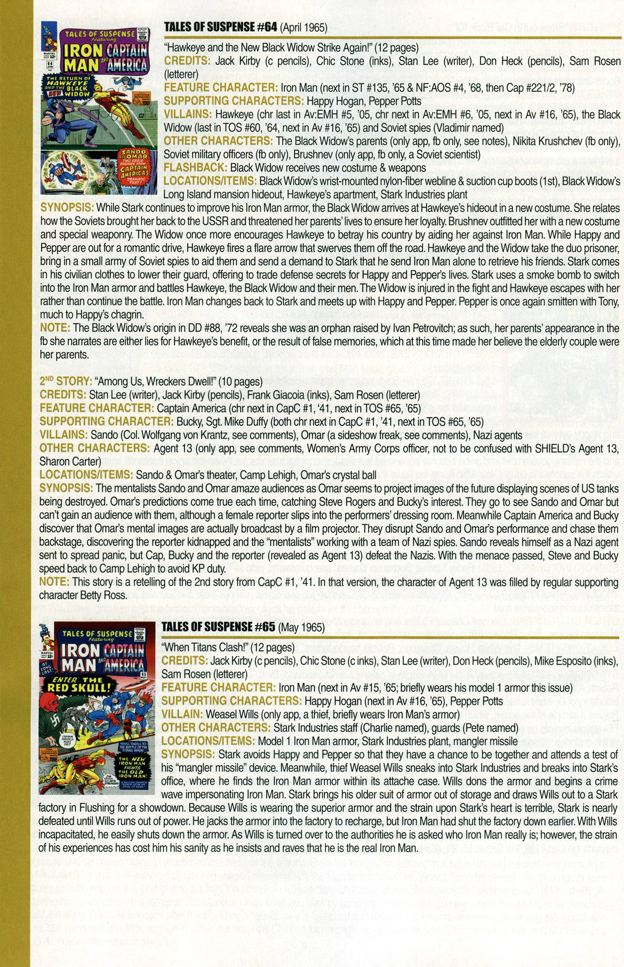 Read online Official Index to the Marvel Universe comic -  Issue #1 - 40