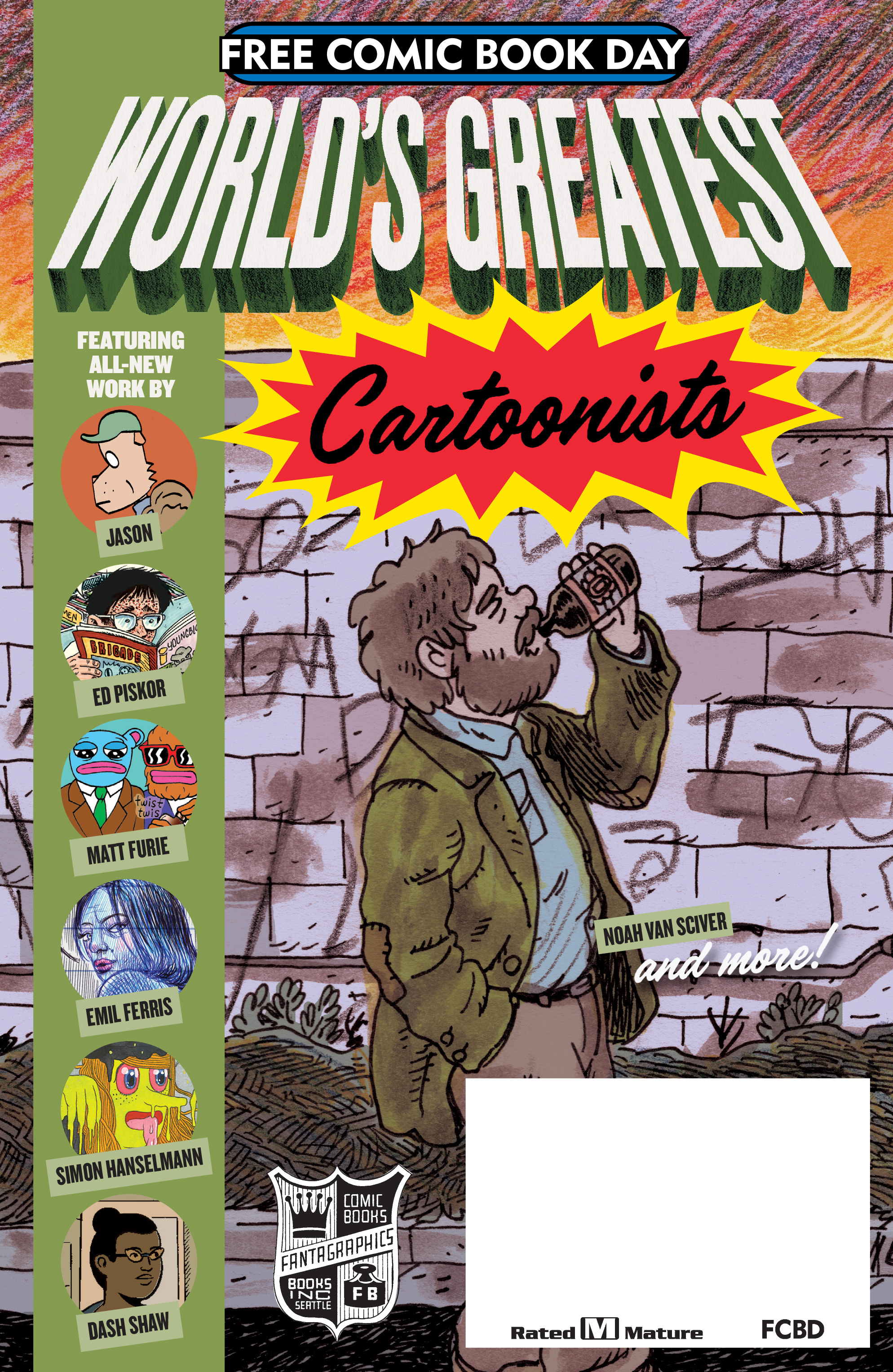 Read online Free Comic Book Day 2017 comic -  Issue # World's Greatest Cartoonists - 1