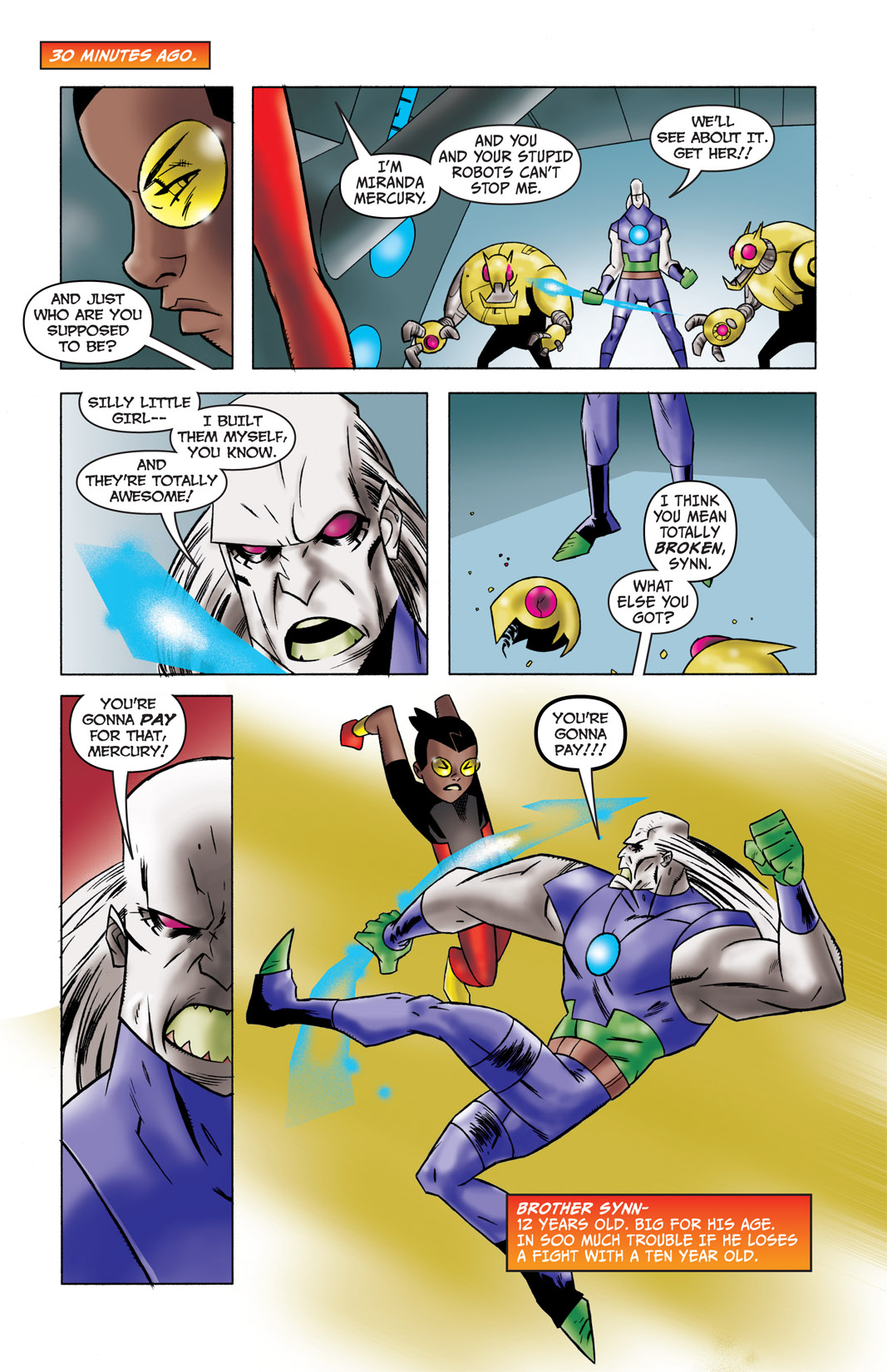 Read online The Many Adventures of Miranda Mercury: Time Runs Out comic -  Issue # TPB - 6