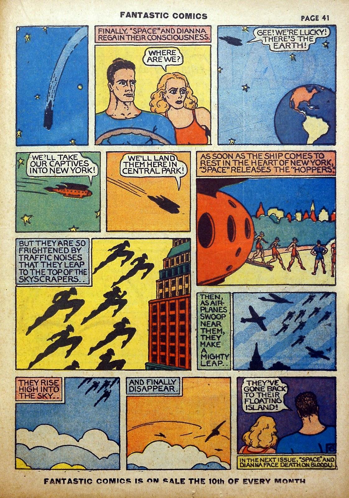 Read online Fantastic Comics comic -  Issue #5 - 42