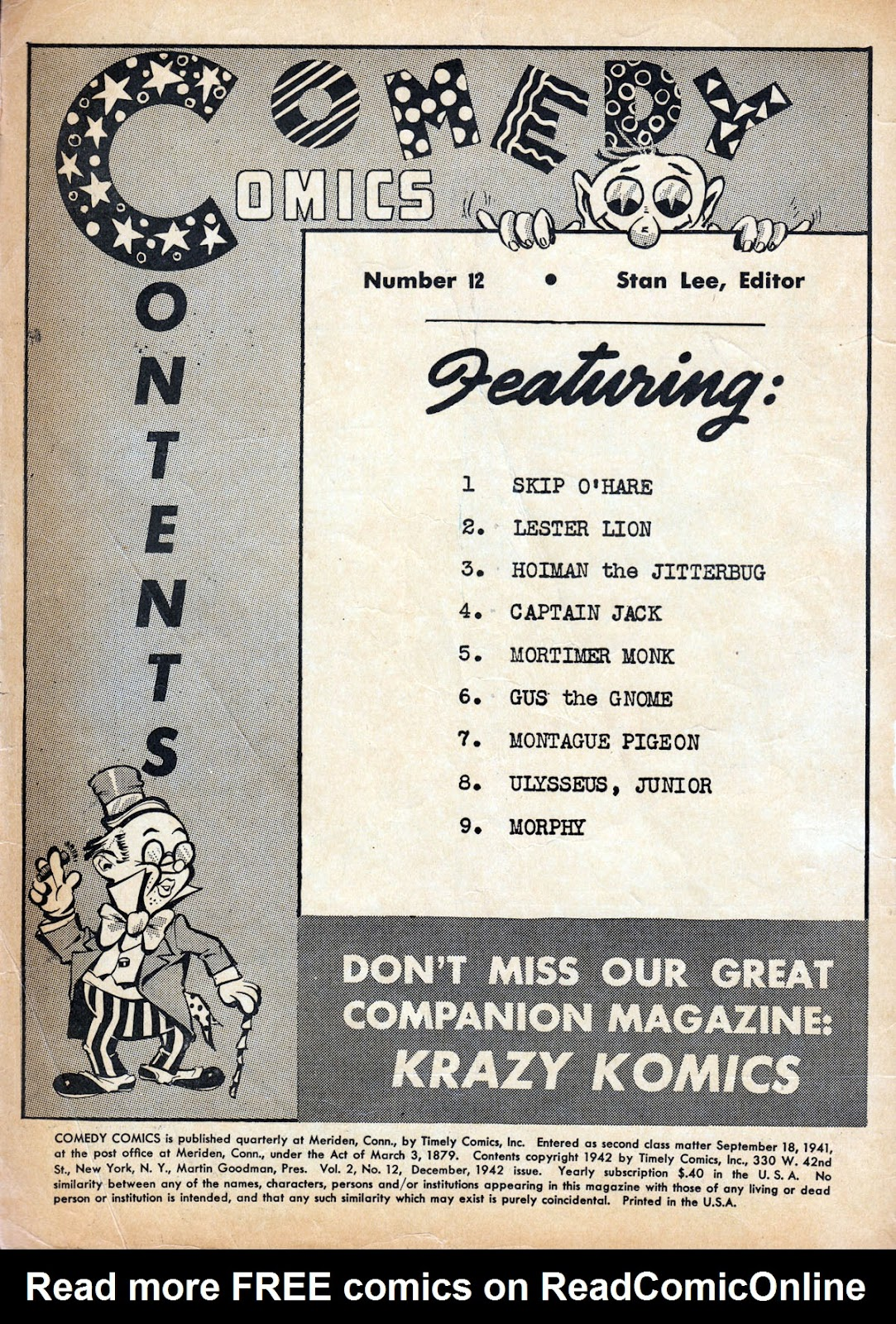 Read online Comedy Comics (1942) comic -  Issue #12 - 2