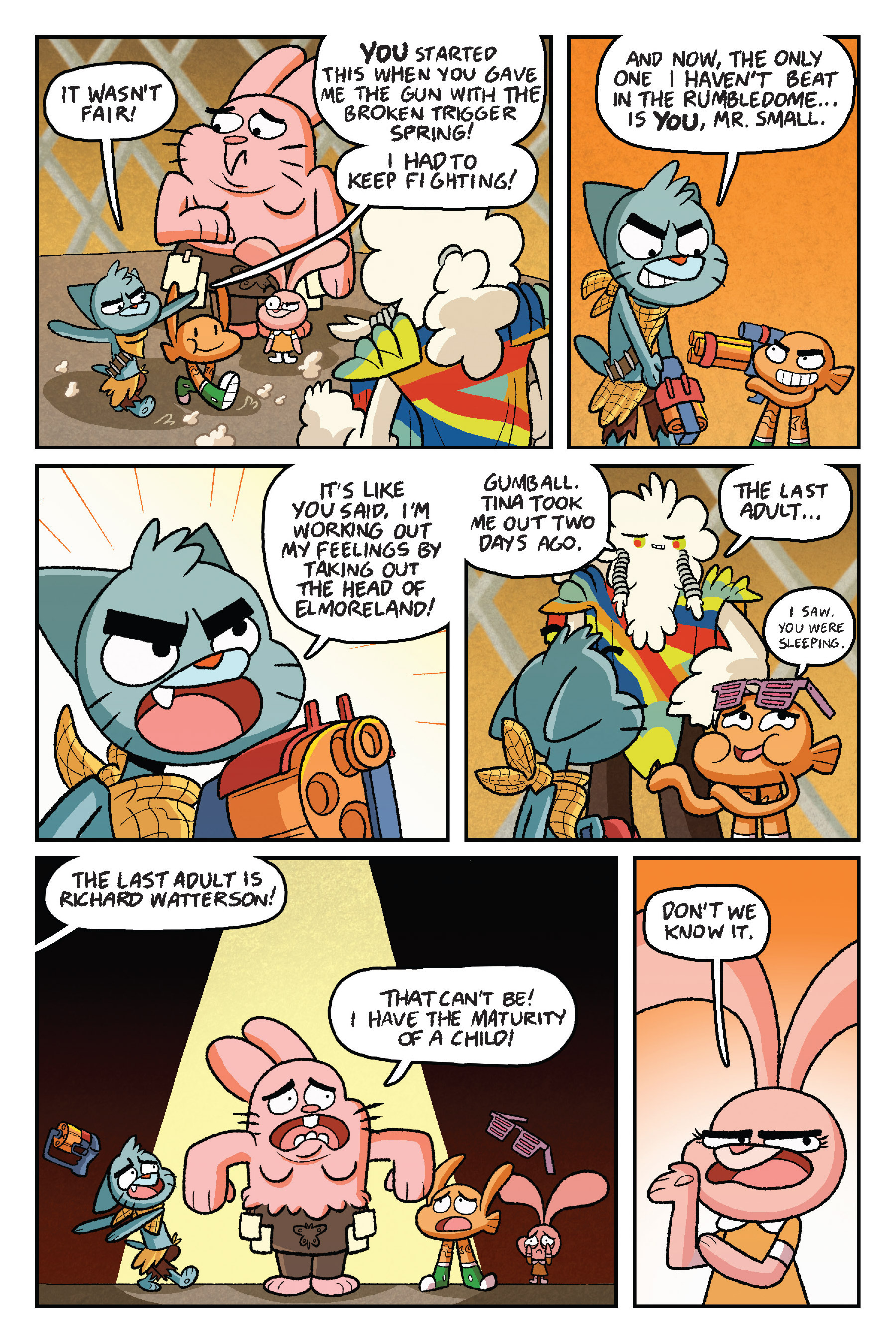 Read online The Amazing World of Gumball: Fairy Tale Trouble comic -  Issue # Full - 153