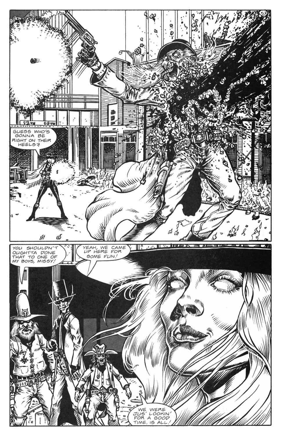 Read online Gunfighters in Hell comic -  Issue #5 - 17