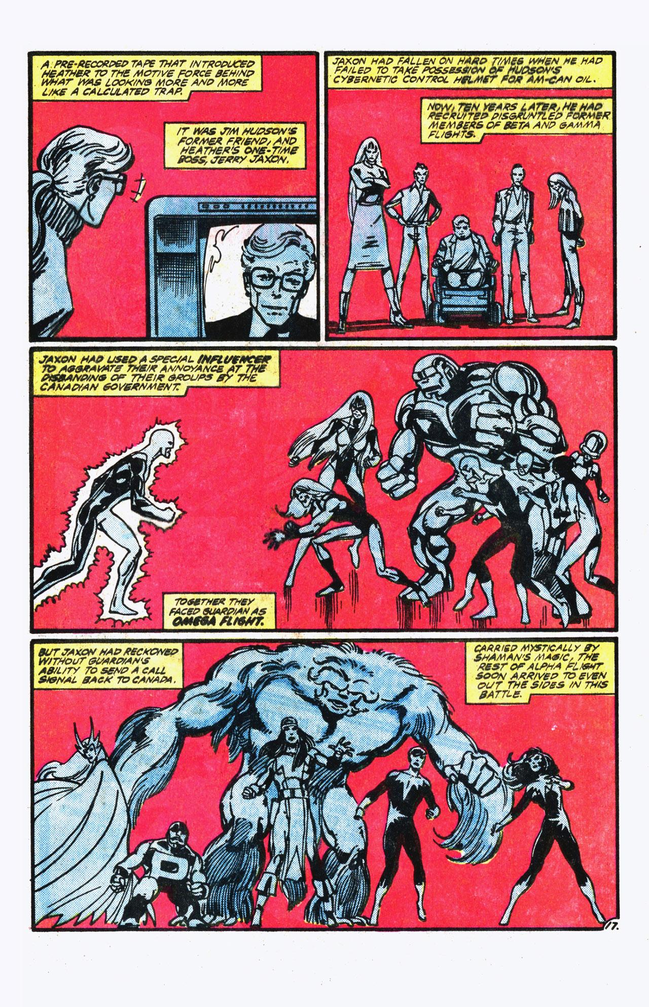 Read online Alpha Flight (1983) comic -  Issue #13 - 18