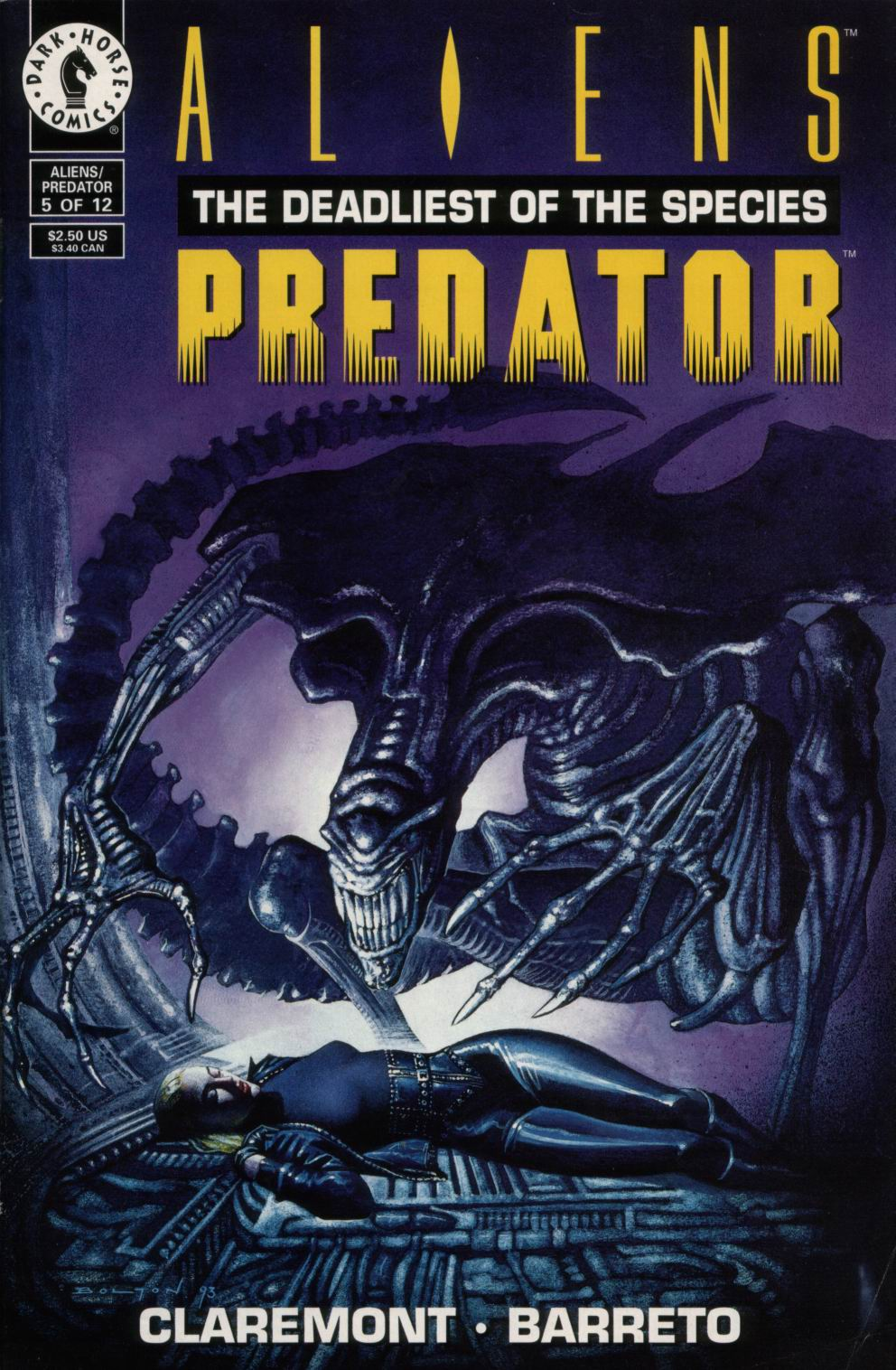 Read online Aliens/Predator: The Deadliest of the Species comic -  Issue #5 - 1