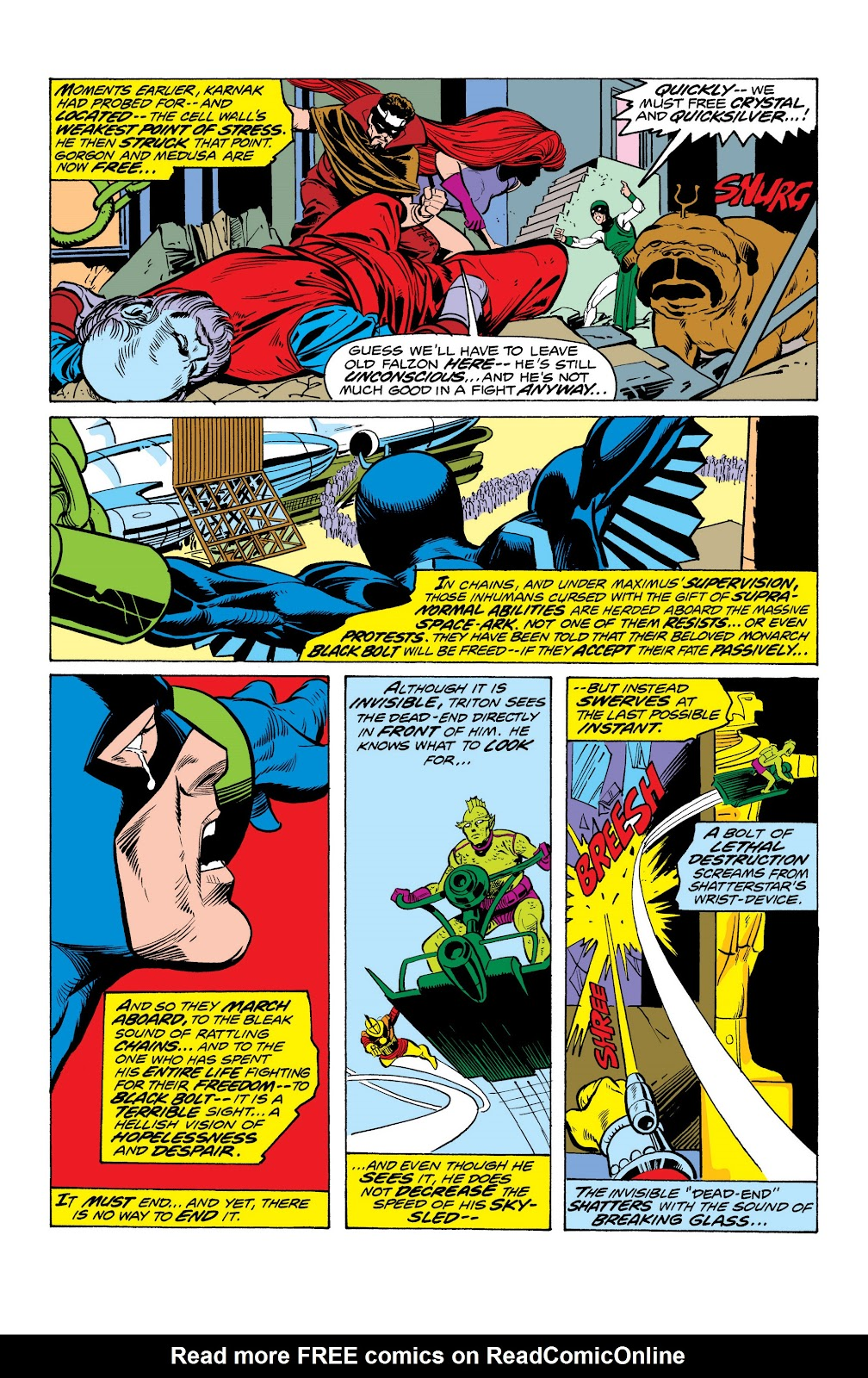 Read online Marvel Masterworks: The Inhumans comic -  Issue # TPB 2 (Part 1) - 98