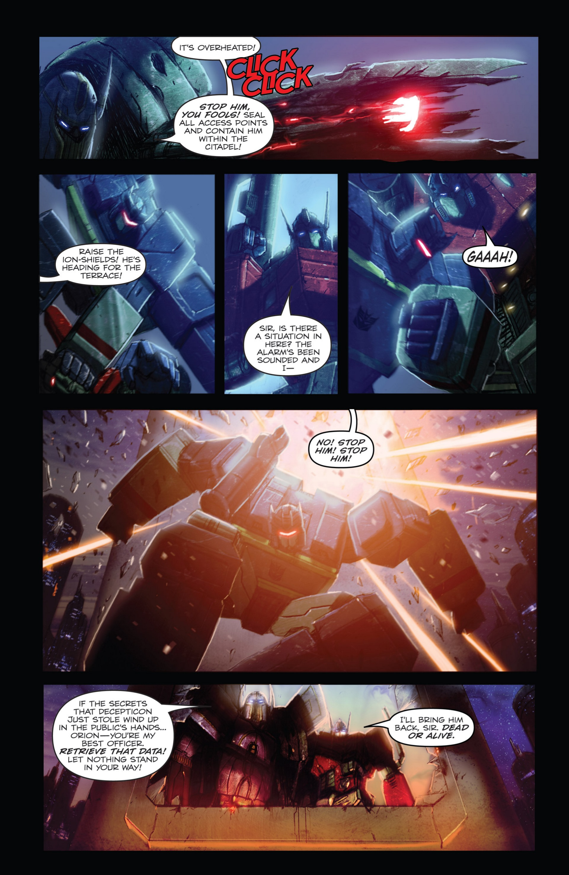 Read online Transformers: Autocracy comic -  Issue # Full - 24