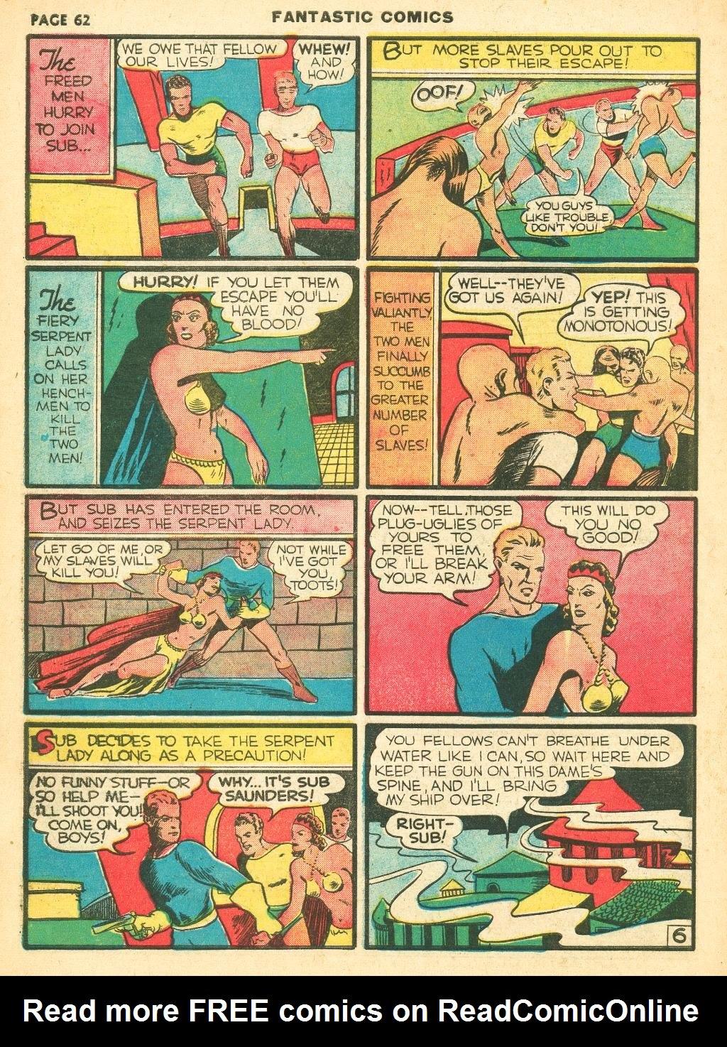 Read online Fantastic Comics comic -  Issue #12 - 64