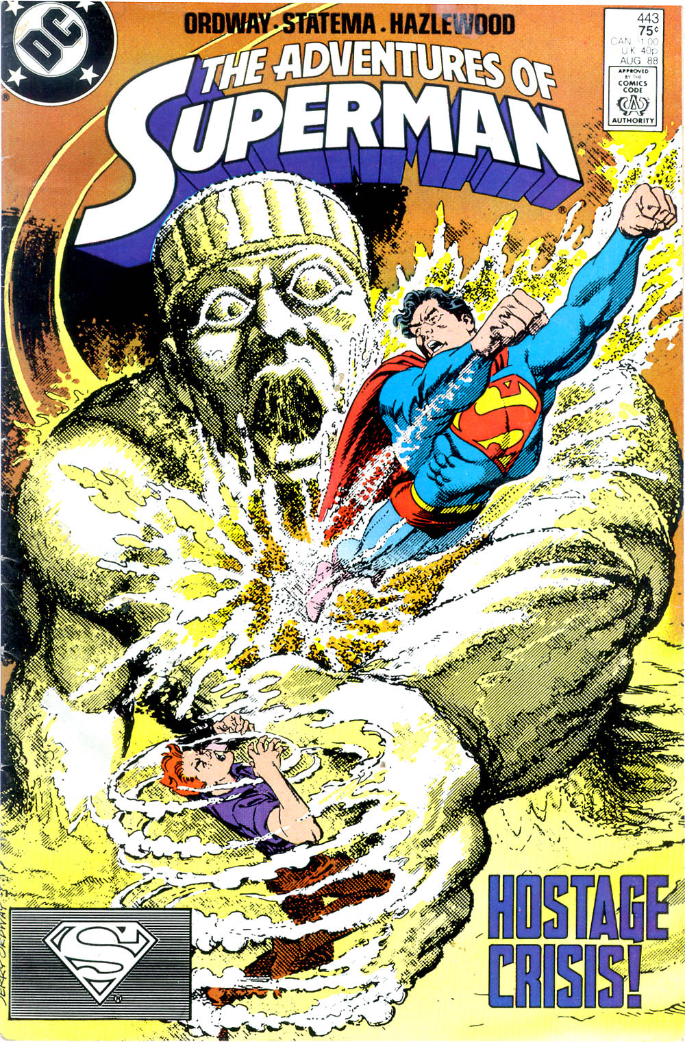 Read online Adventures of Superman (1987) comic -  Issue #443 - 1