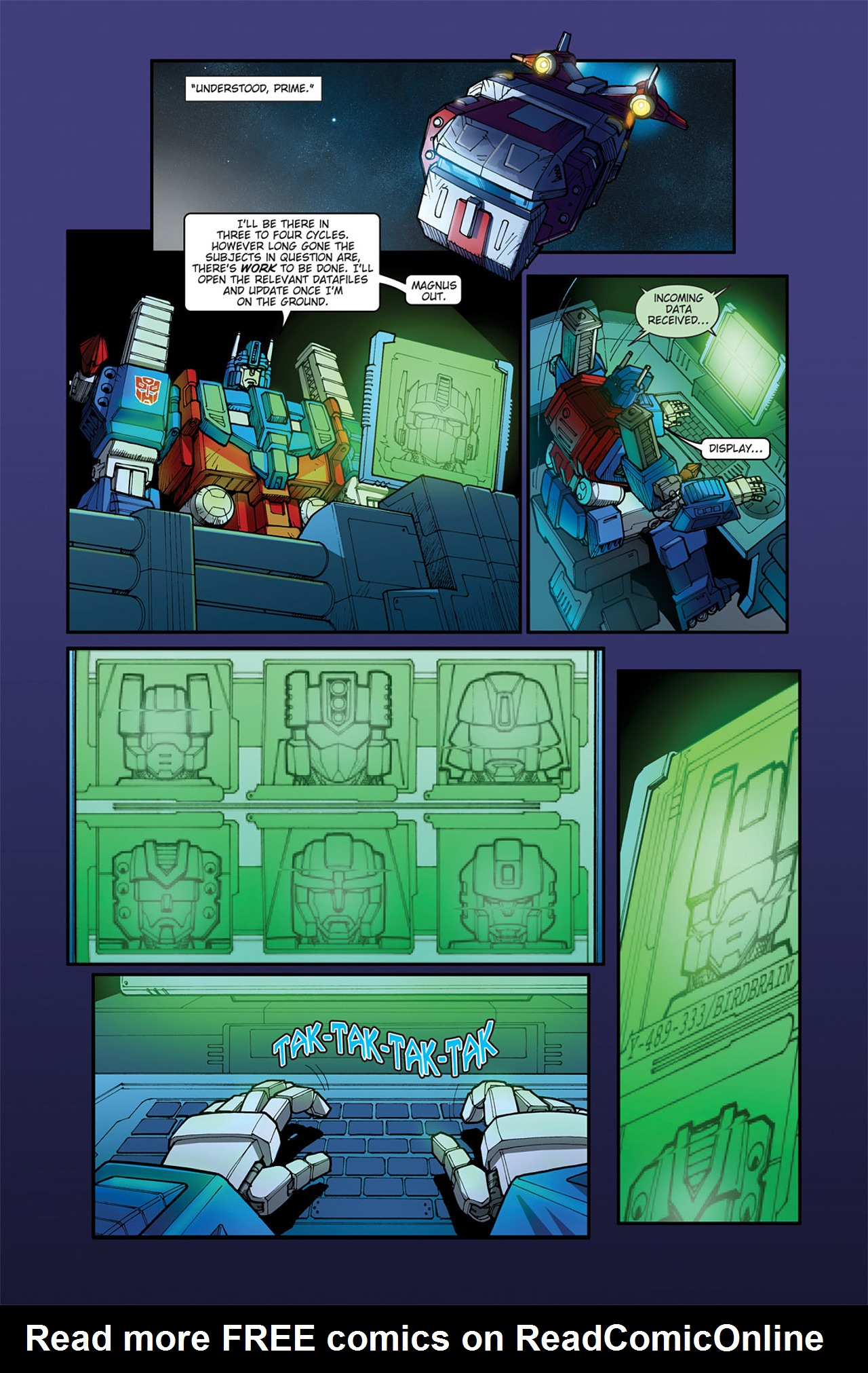 Read online Transformers Spotlight: Cyclonus comic -  Issue # Full - 12