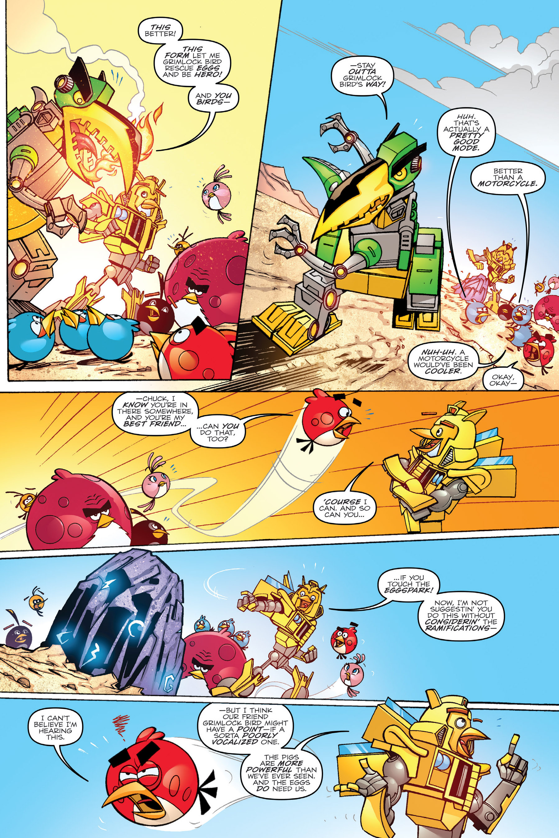 Read online Angry Birds Transformers: Age of Eggstinction comic -  Issue # Full - 31