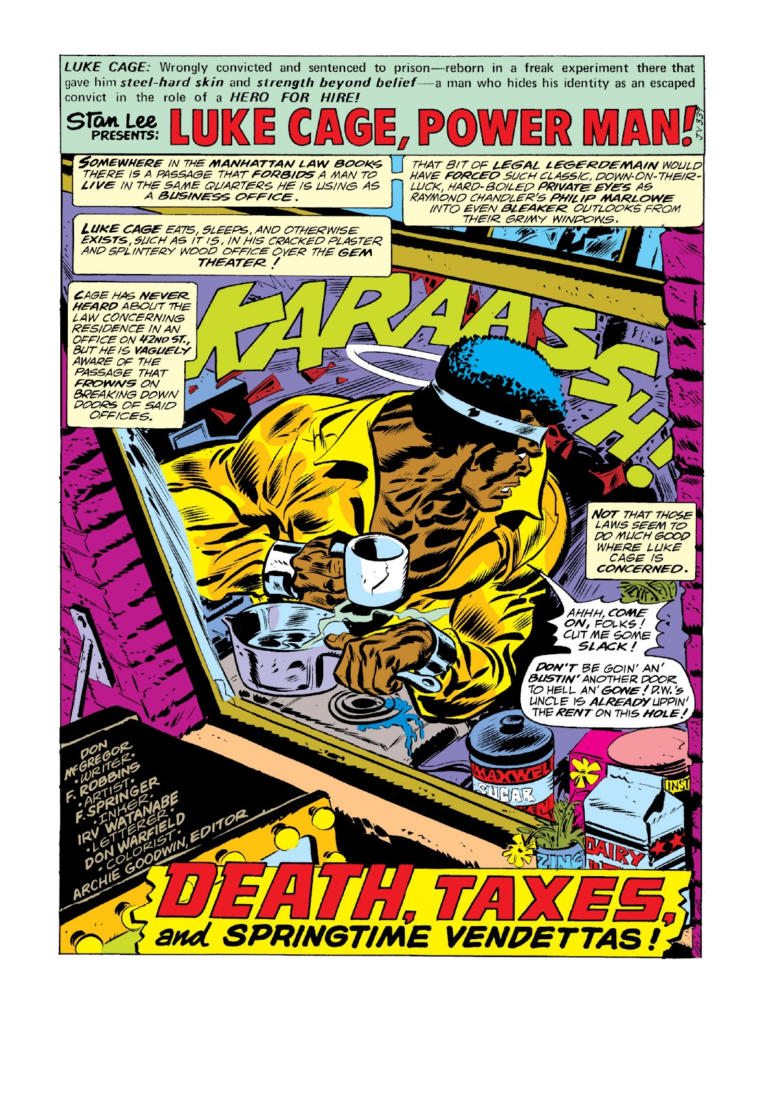 Read online Marvel Masterworks: Luke Cage, Power Man comic -  Issue # TPB 3 (Part 1) - 46