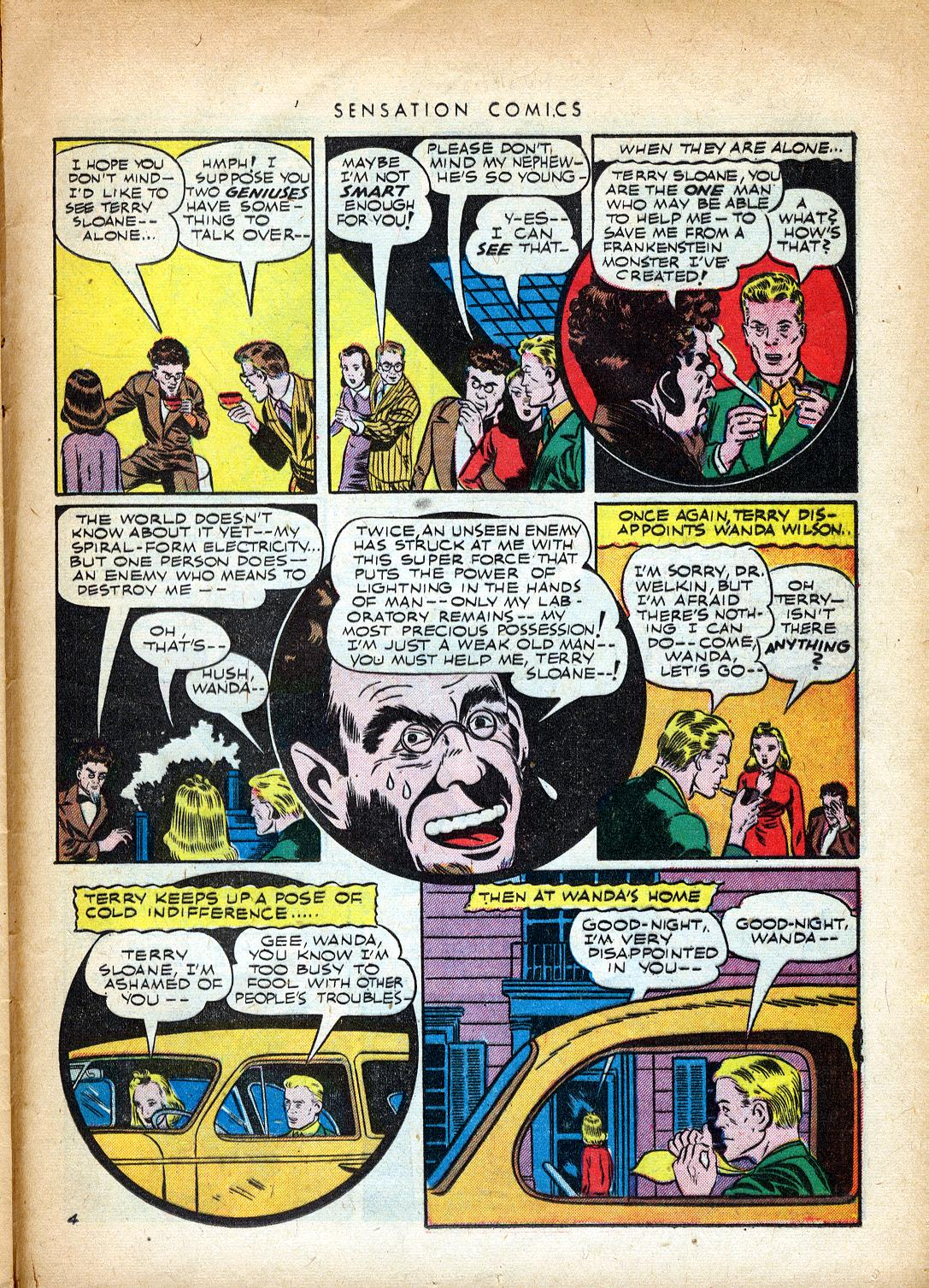 Read online Sensation (Mystery) Comics comic -  Issue #37 - 37