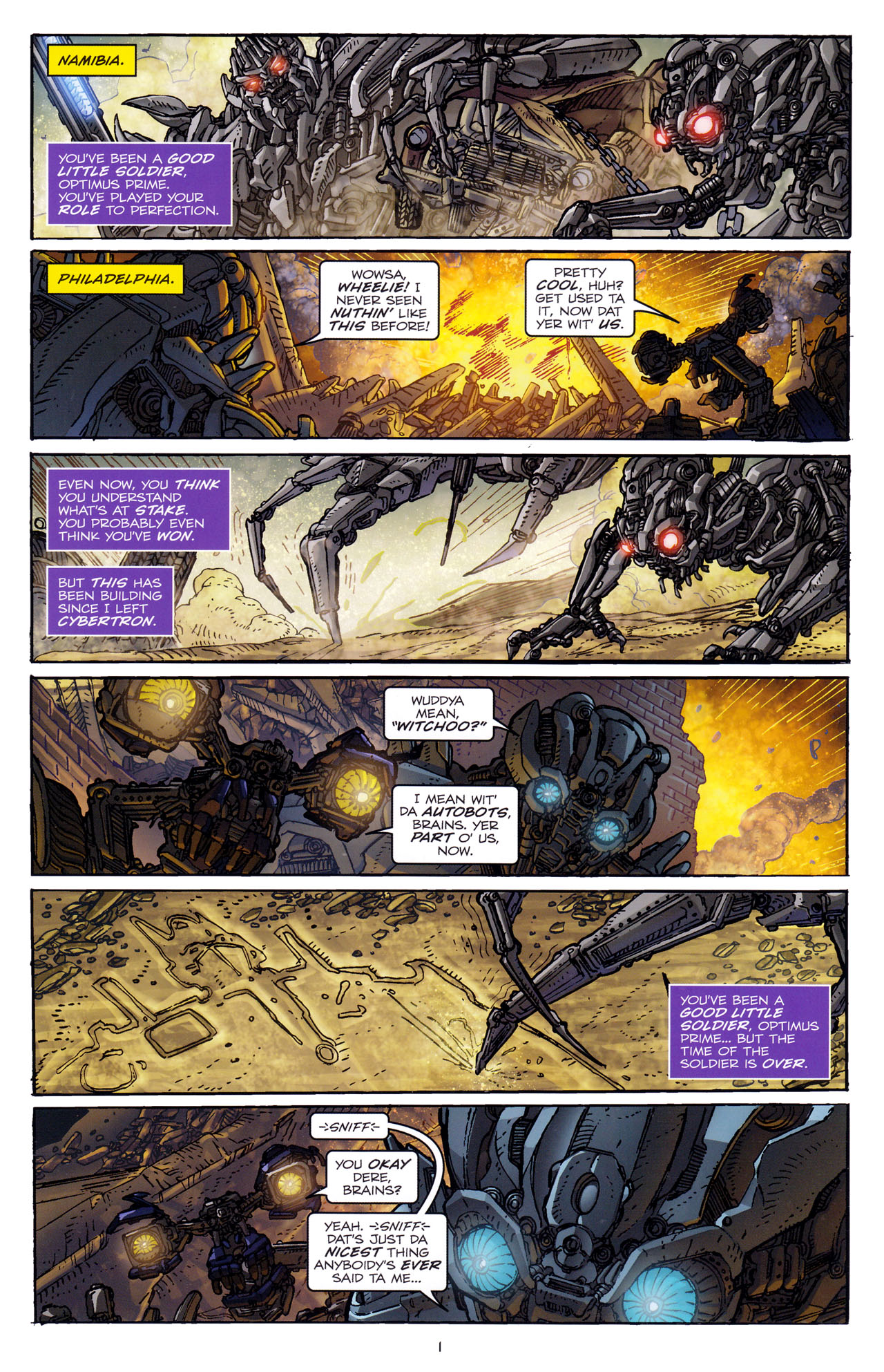 Read online Transformers: Dark of the Moon Rising Storm comic -  Issue #4 - 3
