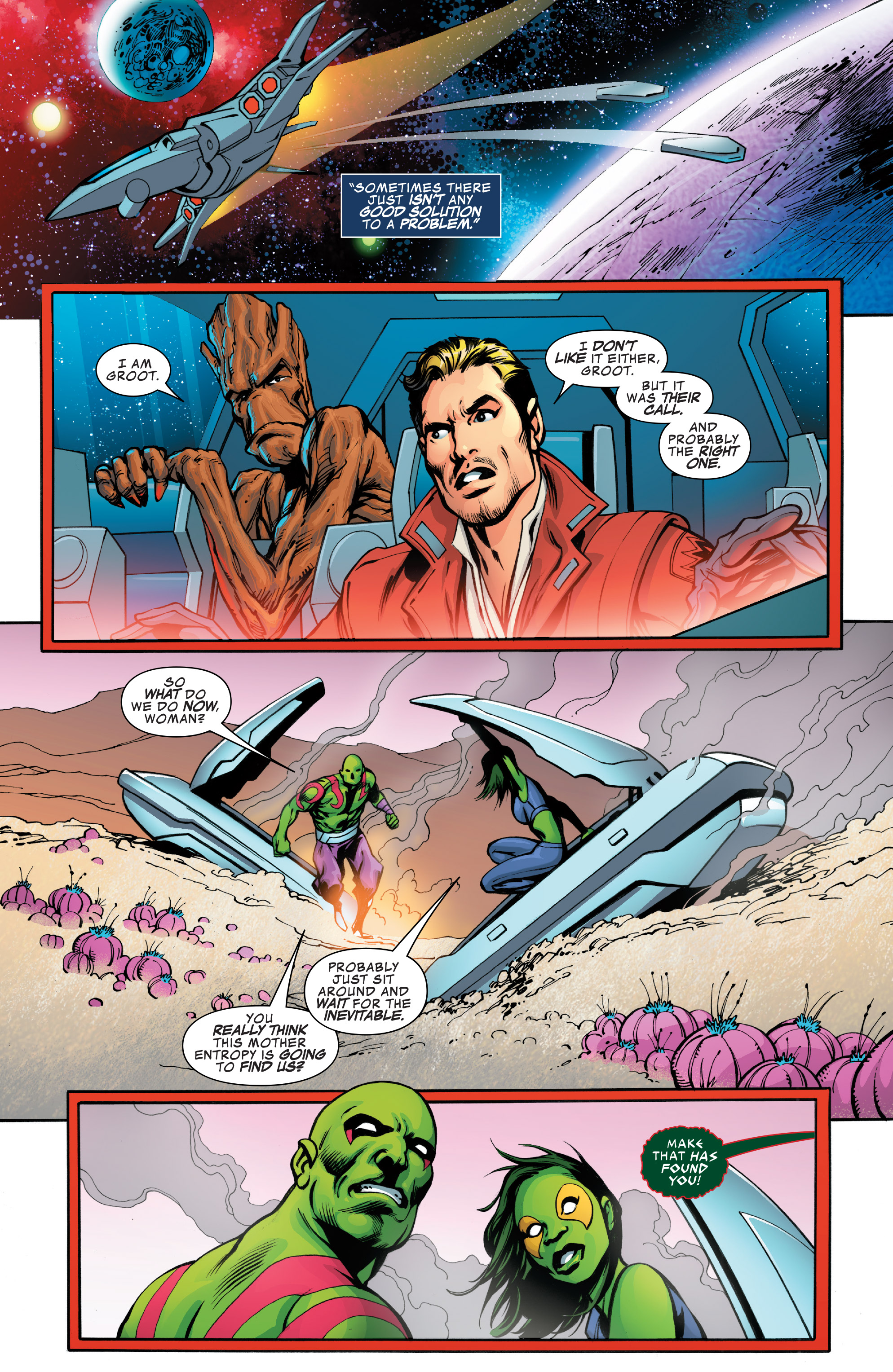 Read online Guardians of the Galaxy: Mother Entropy comic -  Issue #4 - 14