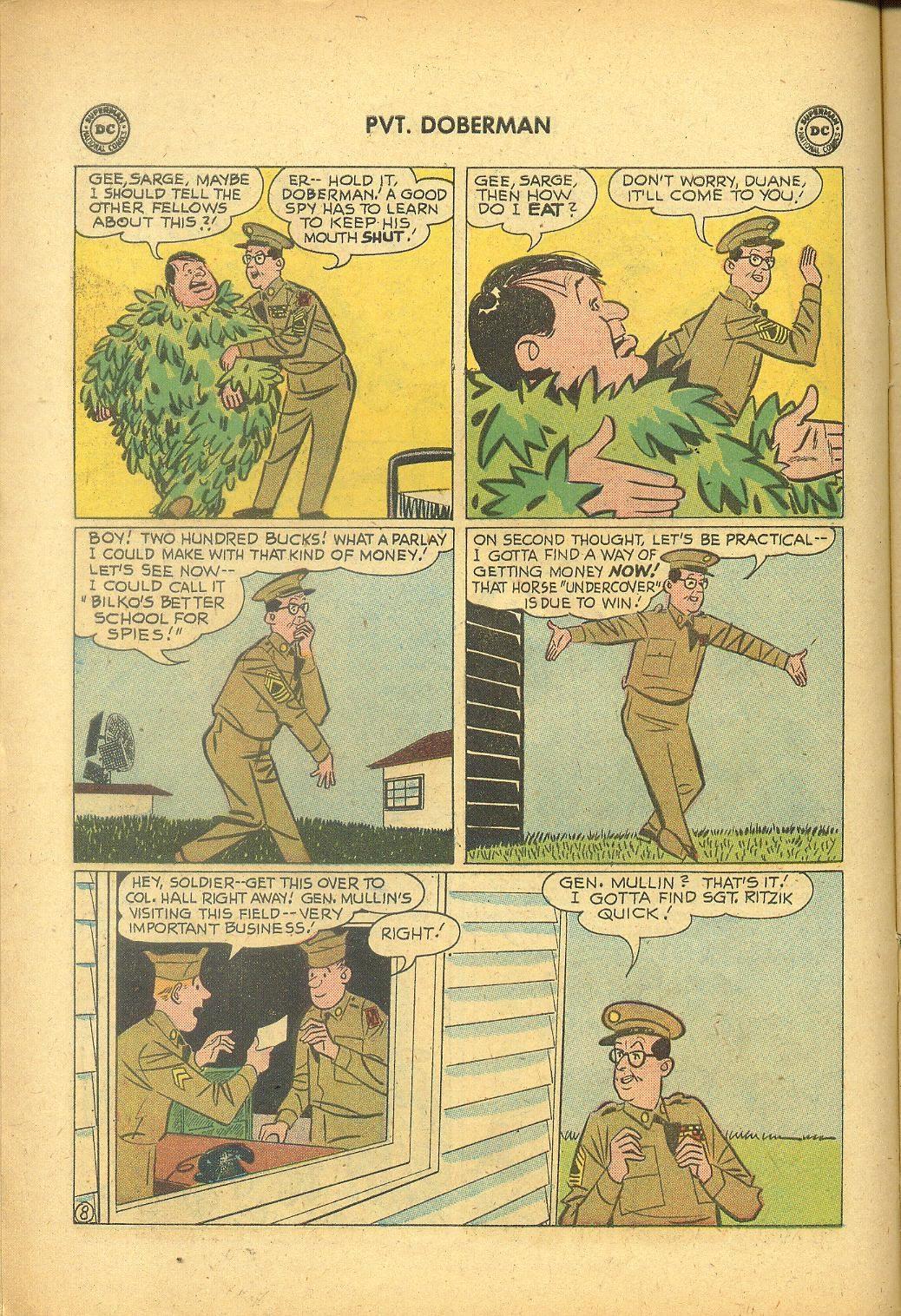Sgt. Bilko's Pvt. Doberman issue 1 - Page 10