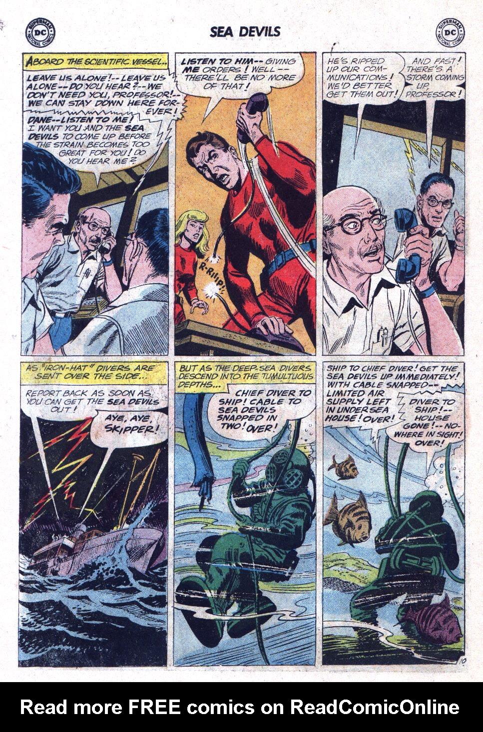 Read online Sea Devils comic -  Issue #11 - 14