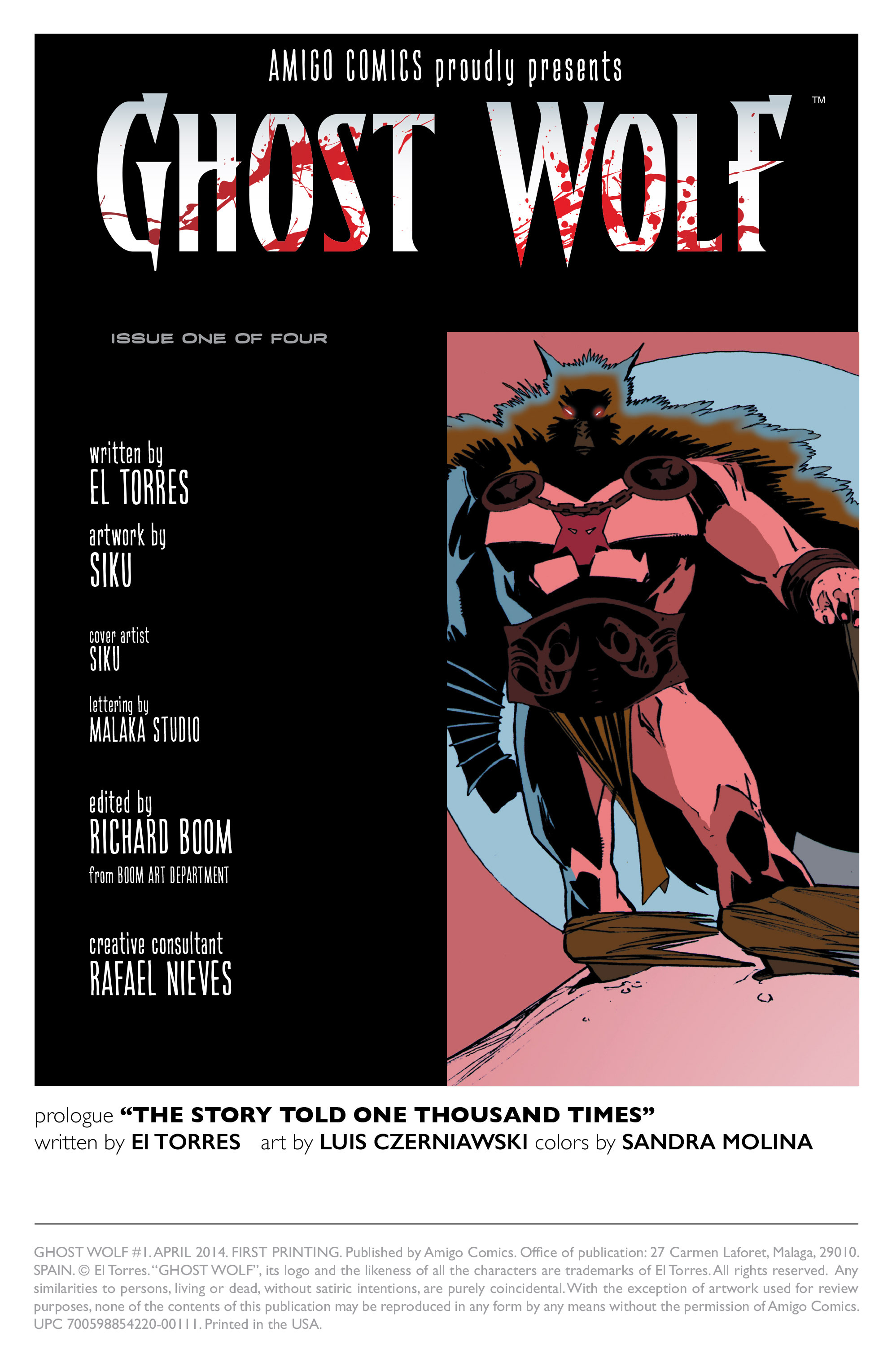Read online Ghost Wolf comic -  Issue #1 - 2