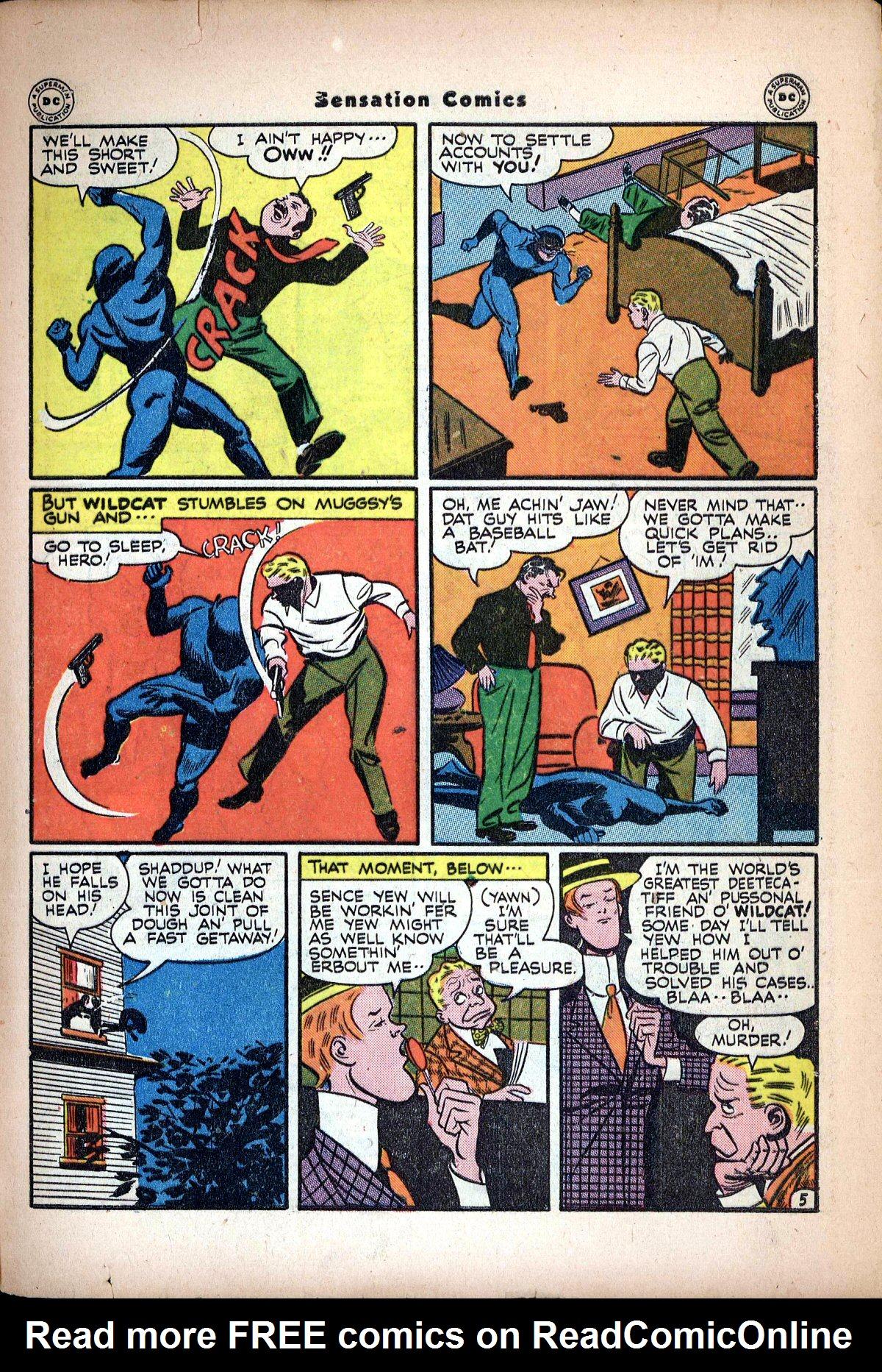 Read online Sensation (Mystery) Comics comic -  Issue #62 - 47