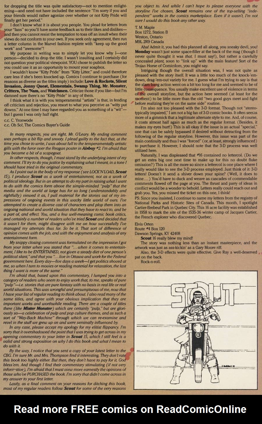 Read online Scout comic -  Issue #20 - 31