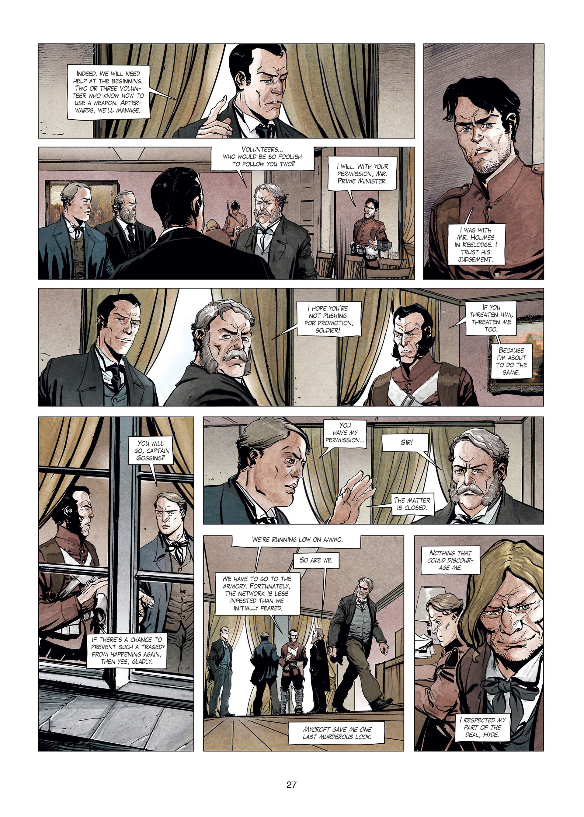 Read online Sherlock Holmes Society Tome 4 : Contamination comic -  Issue # Full - 27